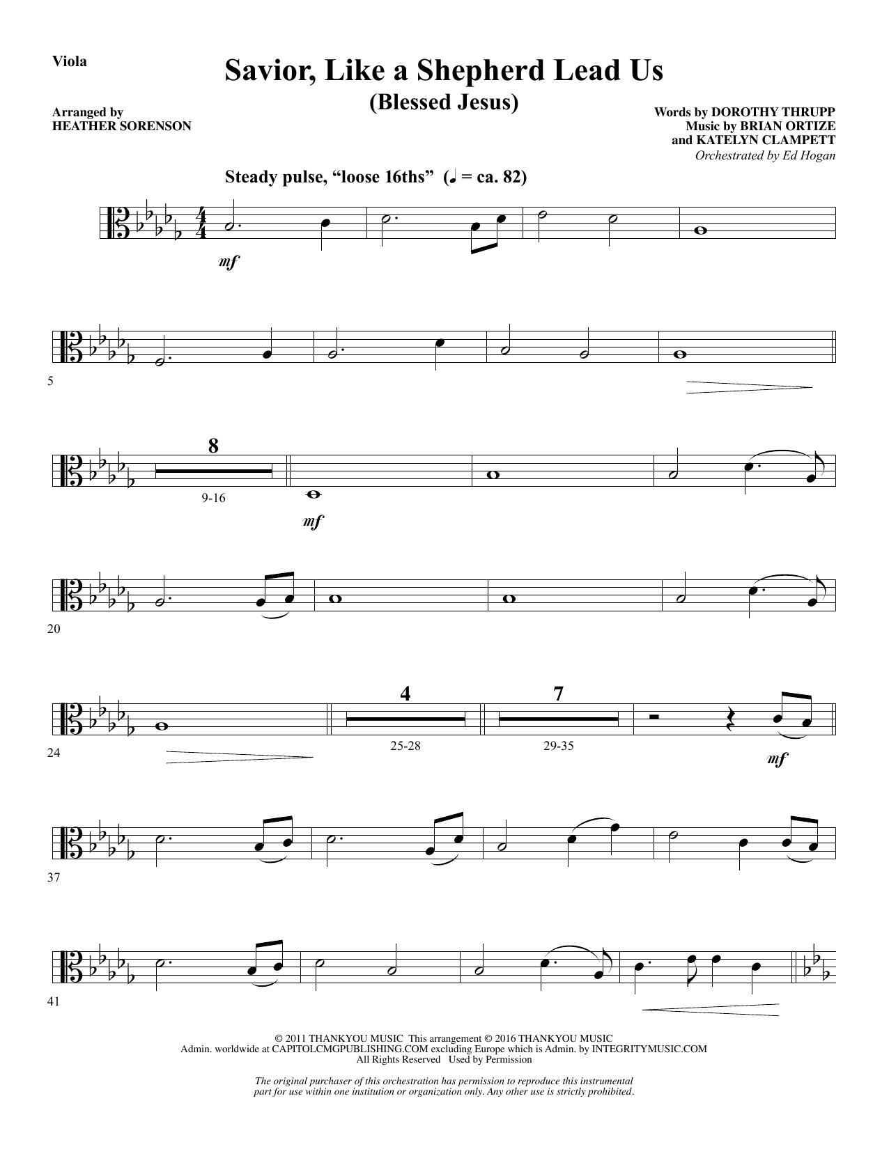Savior, Like a Shepherd Lead Us (Blessed Jesus) - Viola Sheet Music