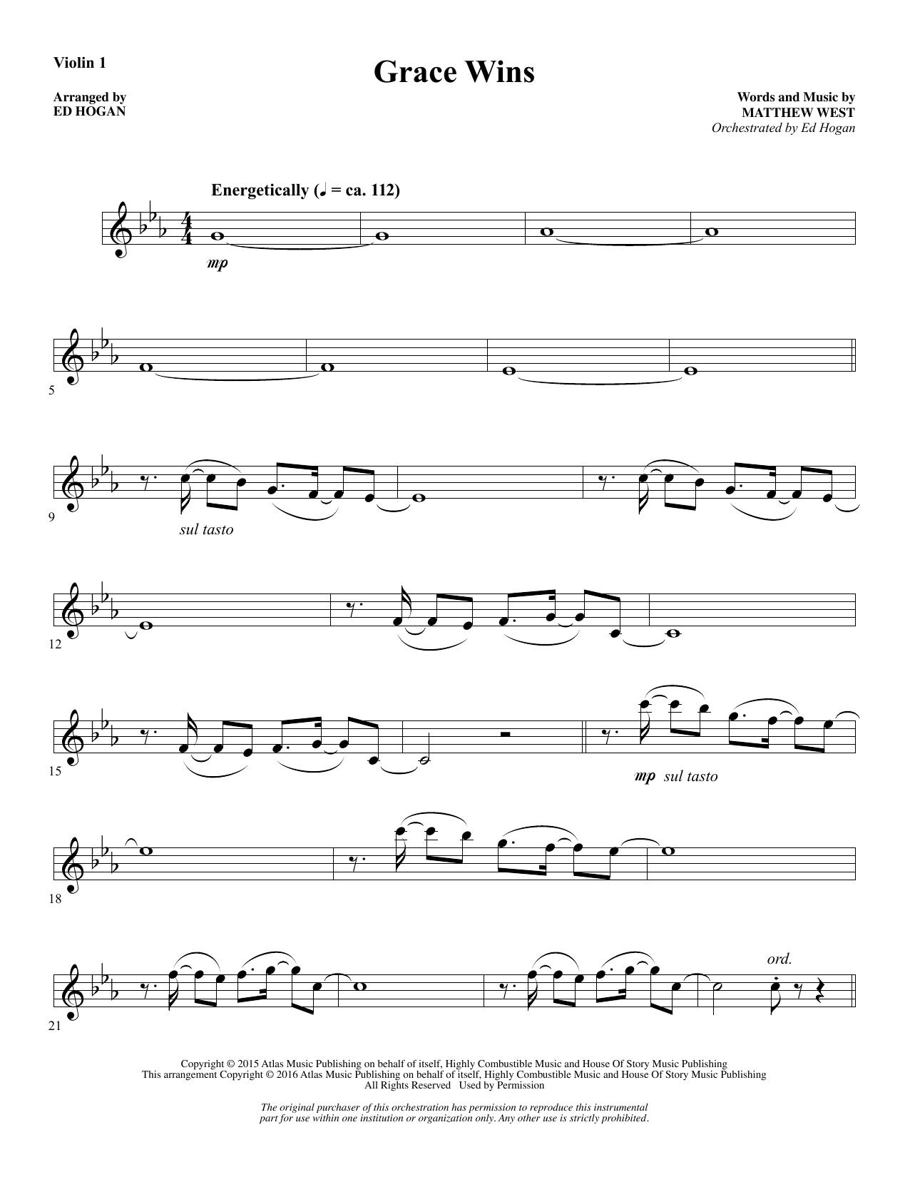 Grace Wins - Violin 1 Sheet Music
