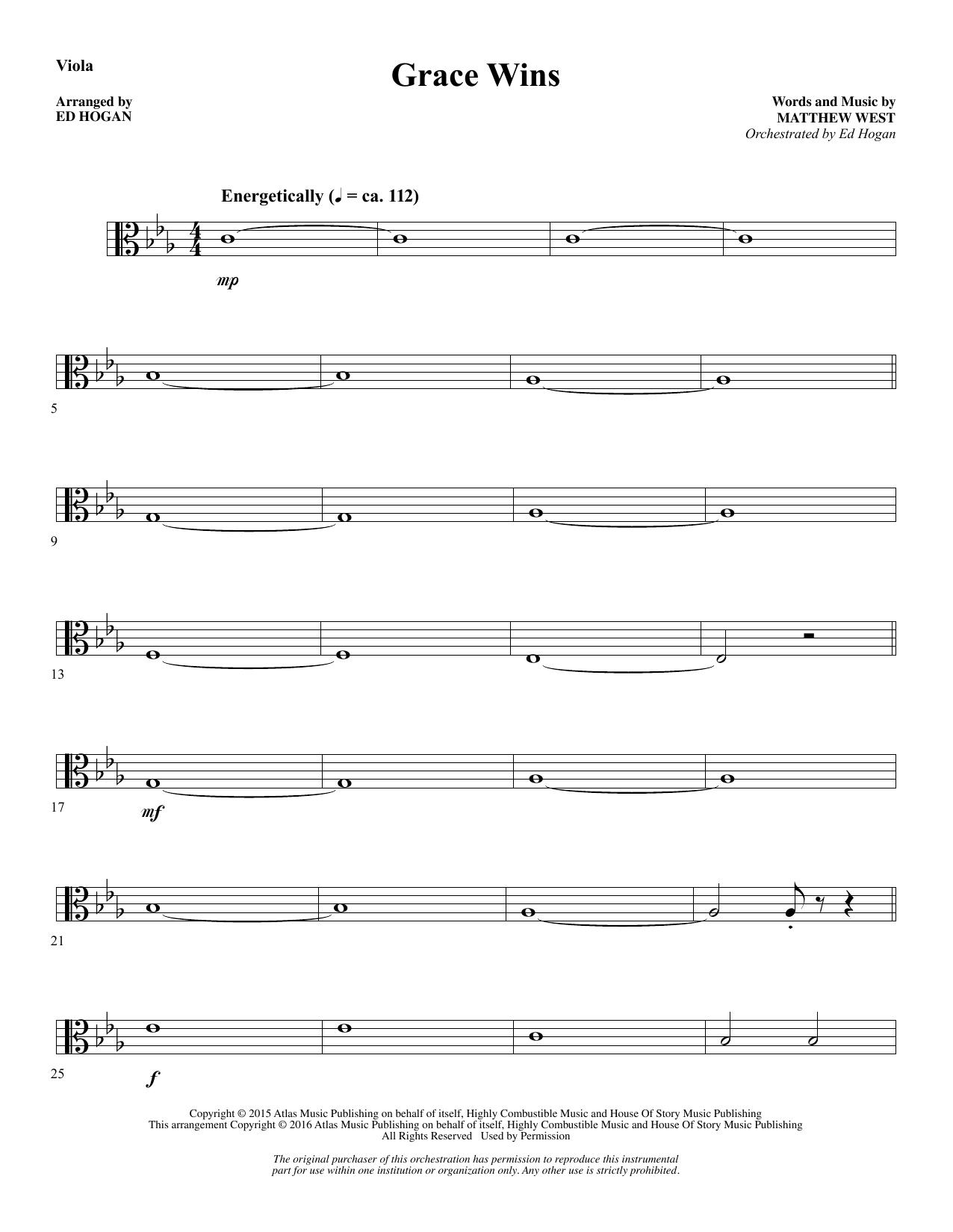 Grace Wins - Viola Sheet Music