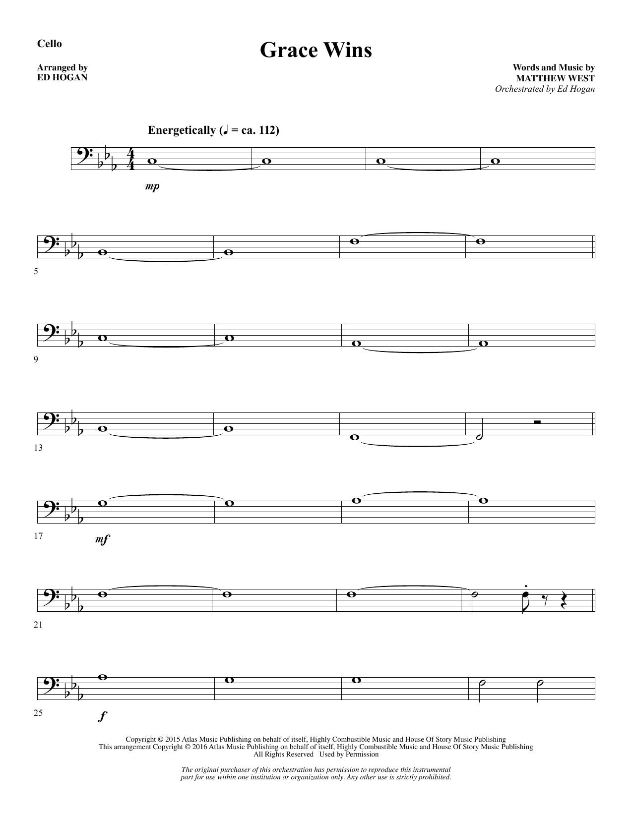 Grace Wins - Cello Sheet Music