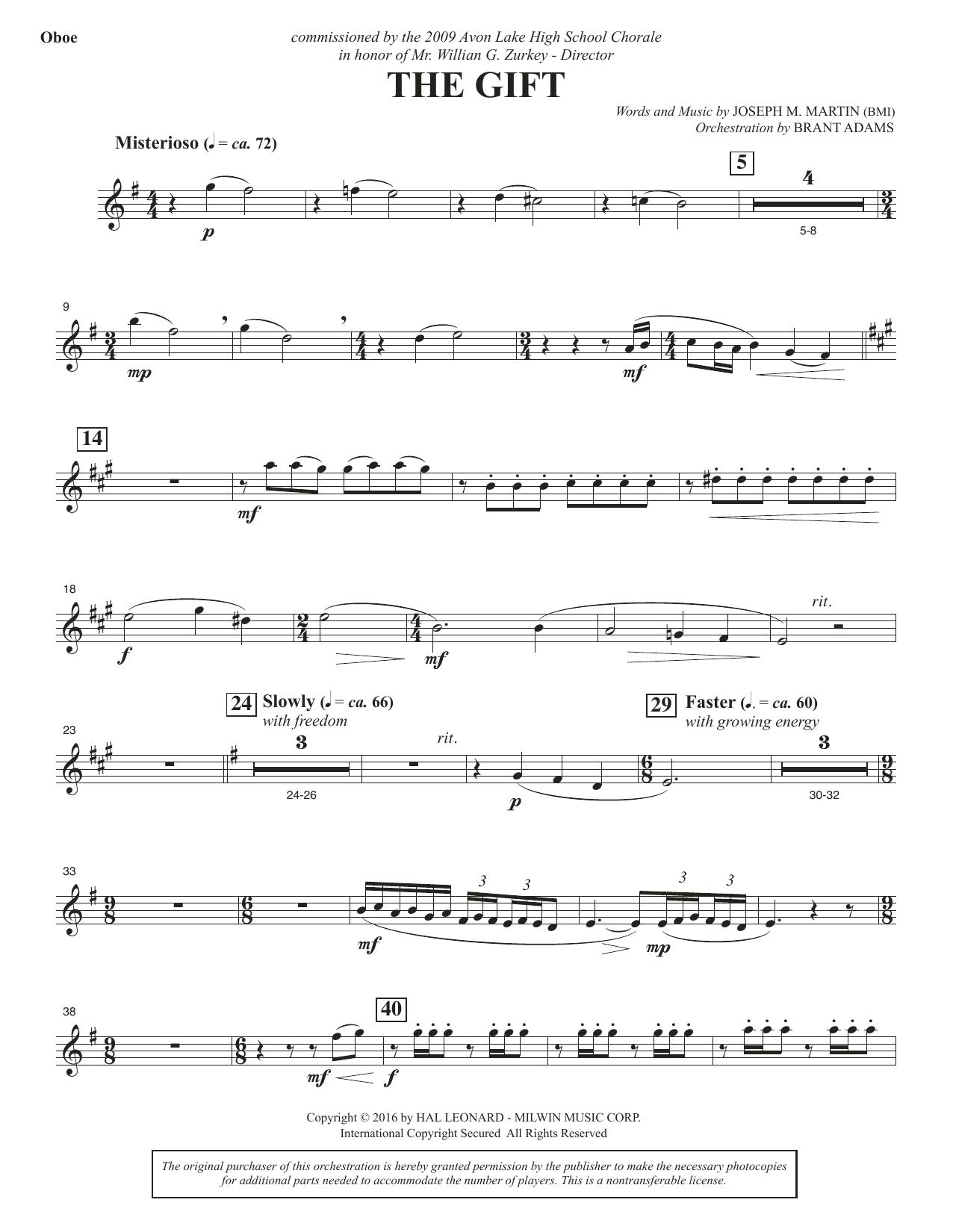 The Gift - Oboe (Choir Instrumental Pak)