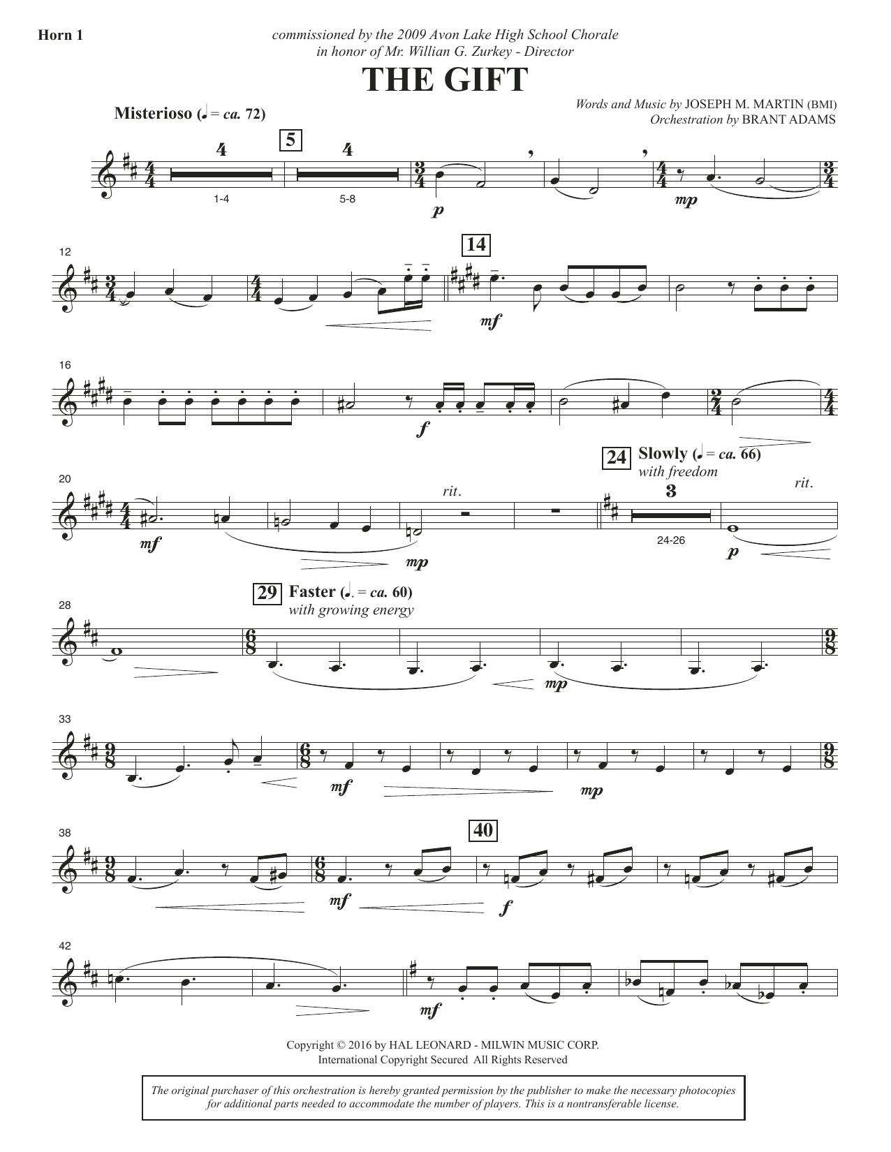The Gift - F Horn 1 Sheet Music