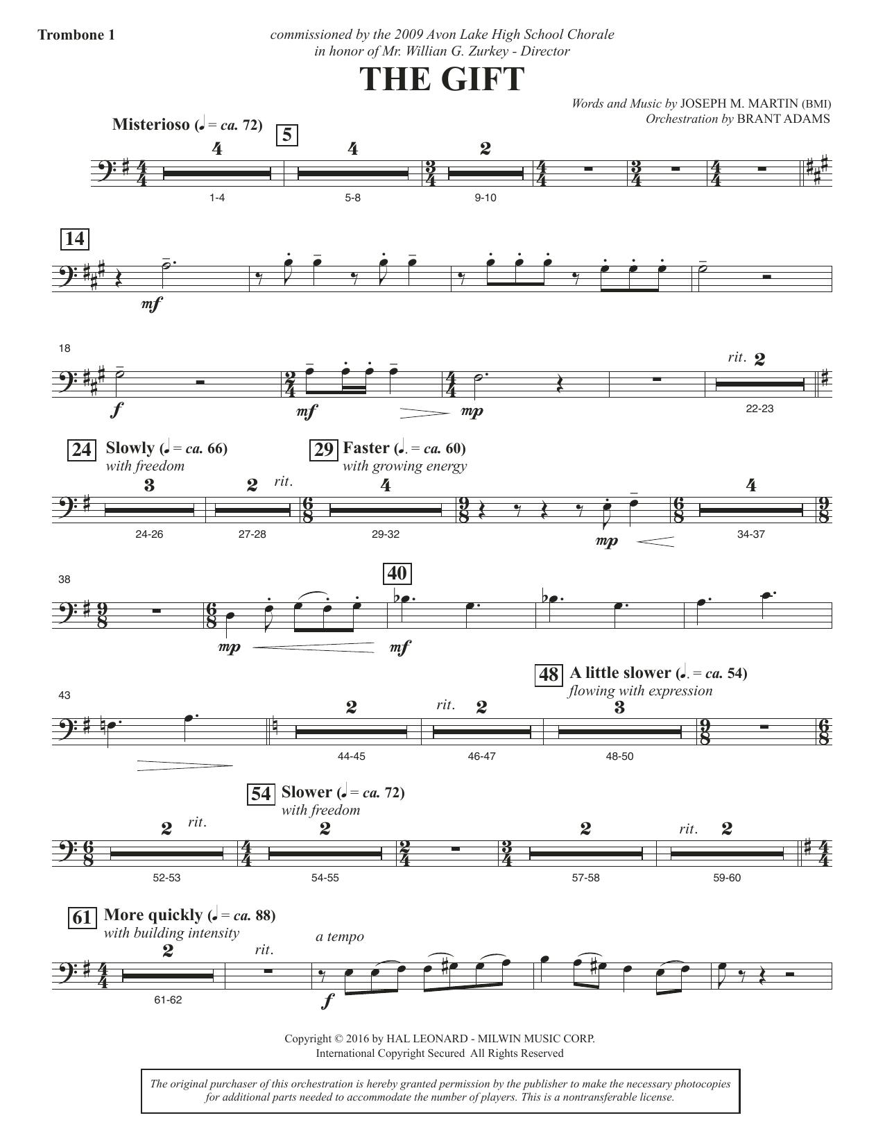 The Gift - Trombone 1 Sheet Music