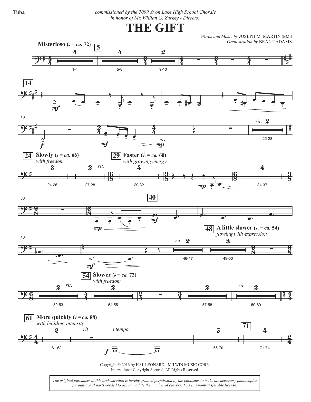 The Gift - Tuba Sheet Music