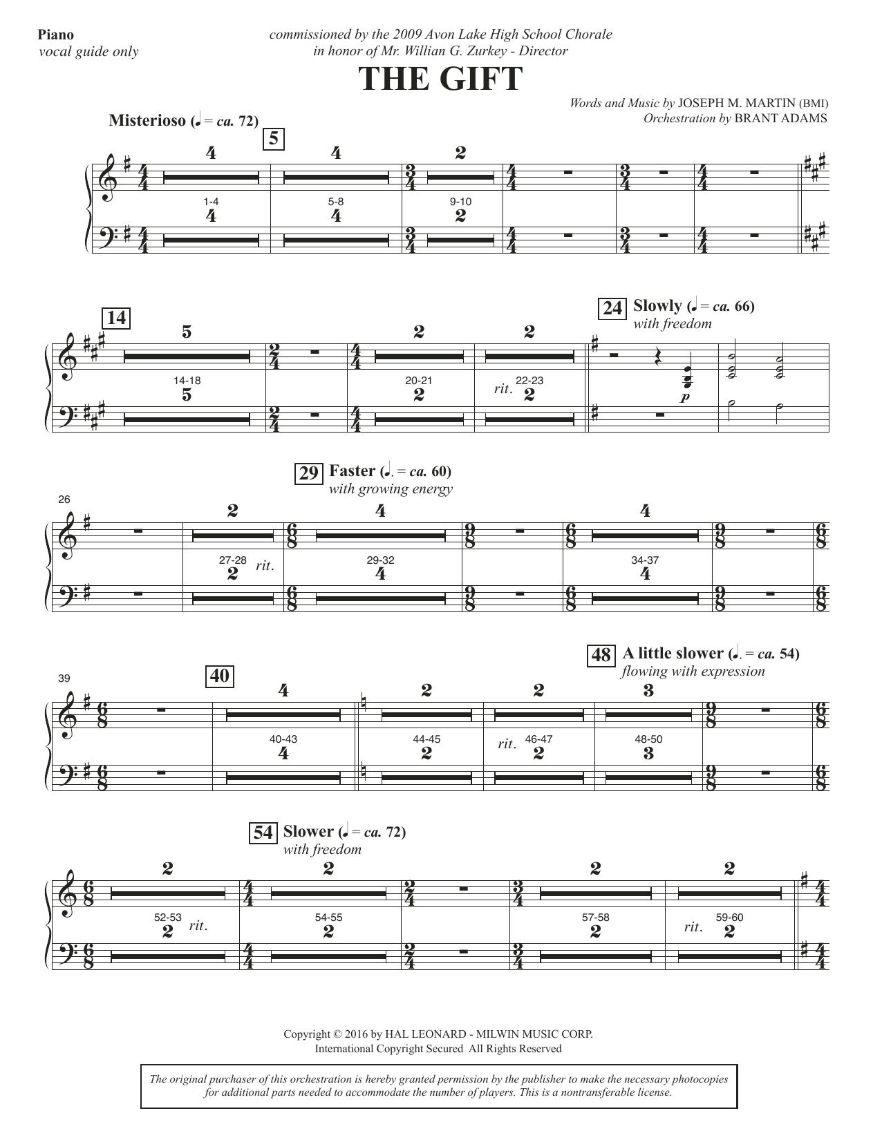 The Gift - Piano Sheet Music