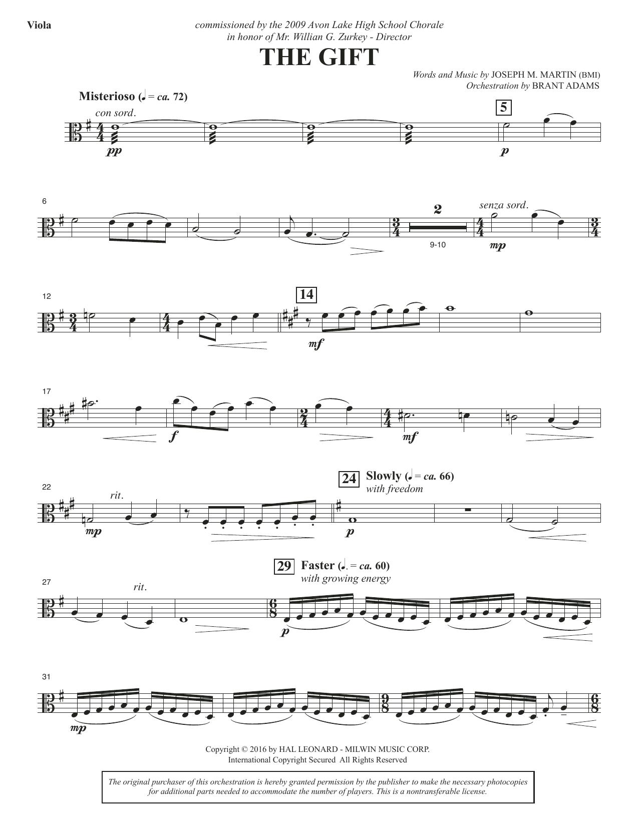 The Gift - Viola Sheet Music