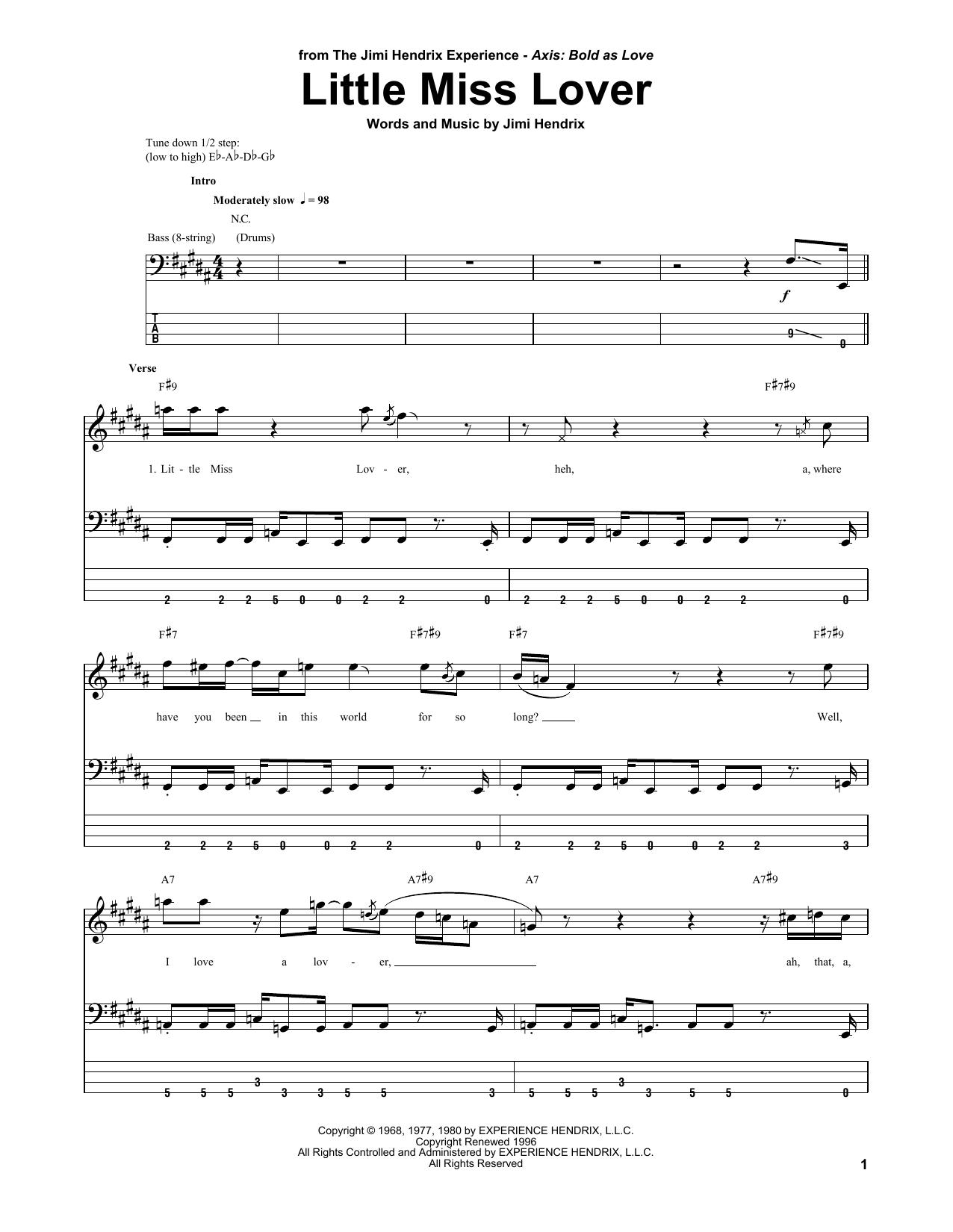 Little Miss Lover Sheet Music