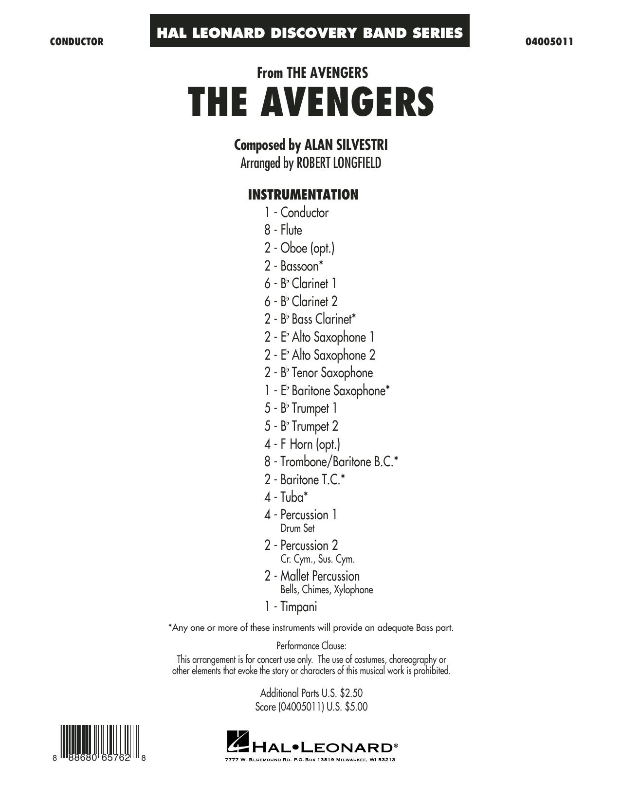 The Avengers - Conductor Score (Full Score) Sheet Music