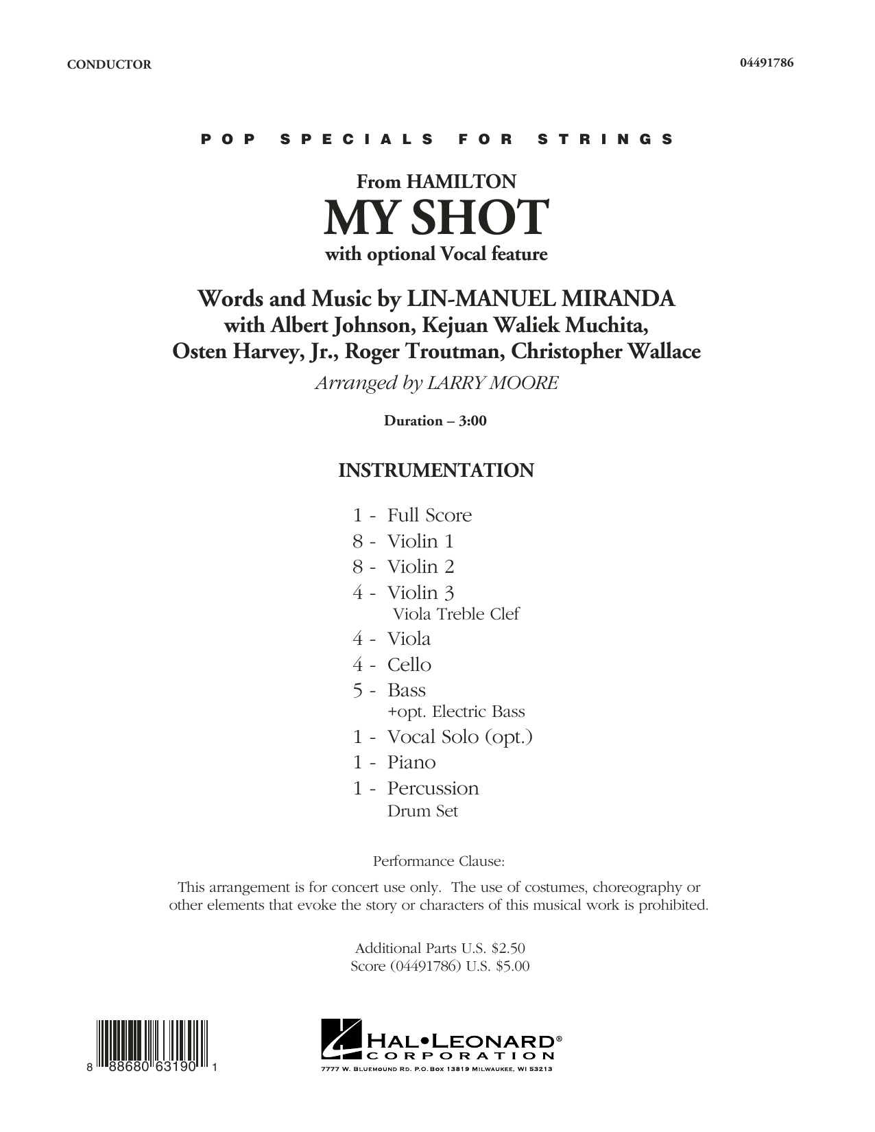 My Shot (from Hamilton) - Conductor Score (Full Score) Sheet Music