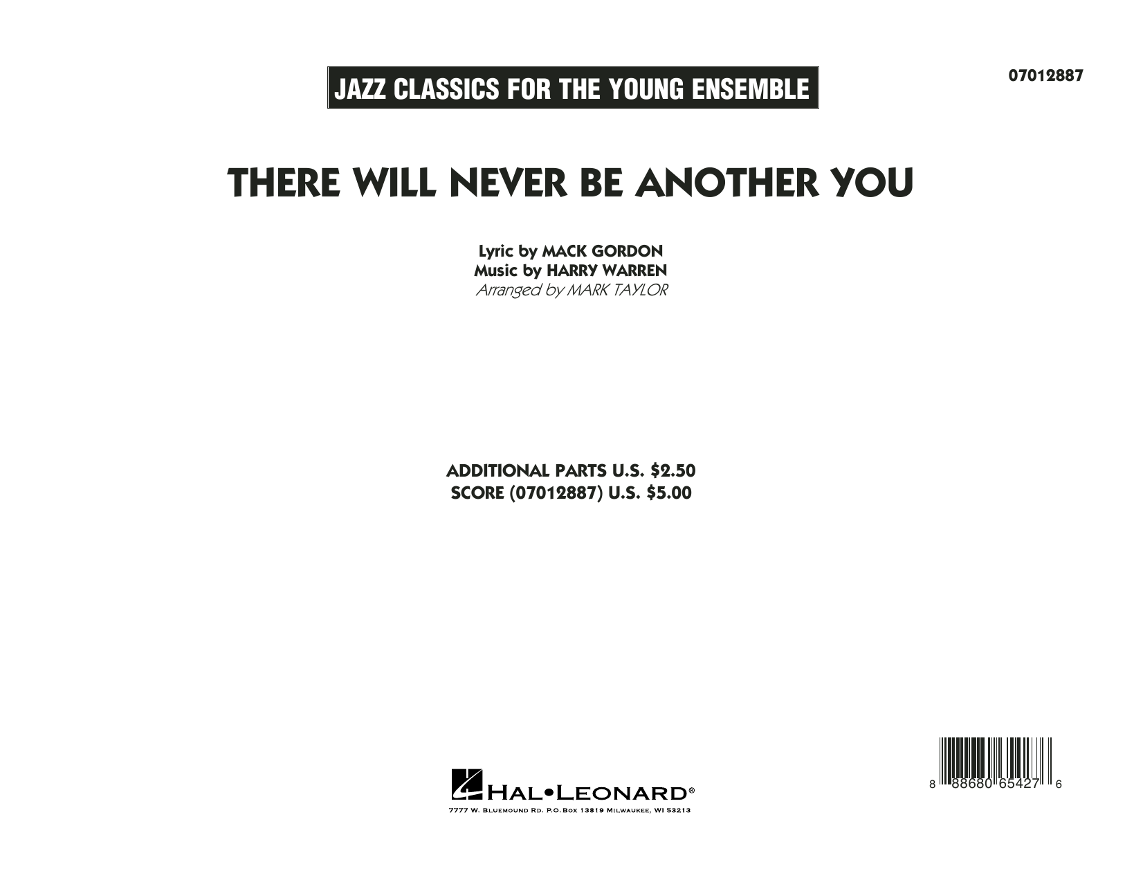 There Will Never Be Another You - Conductor Score (Full Score) Sheet Music