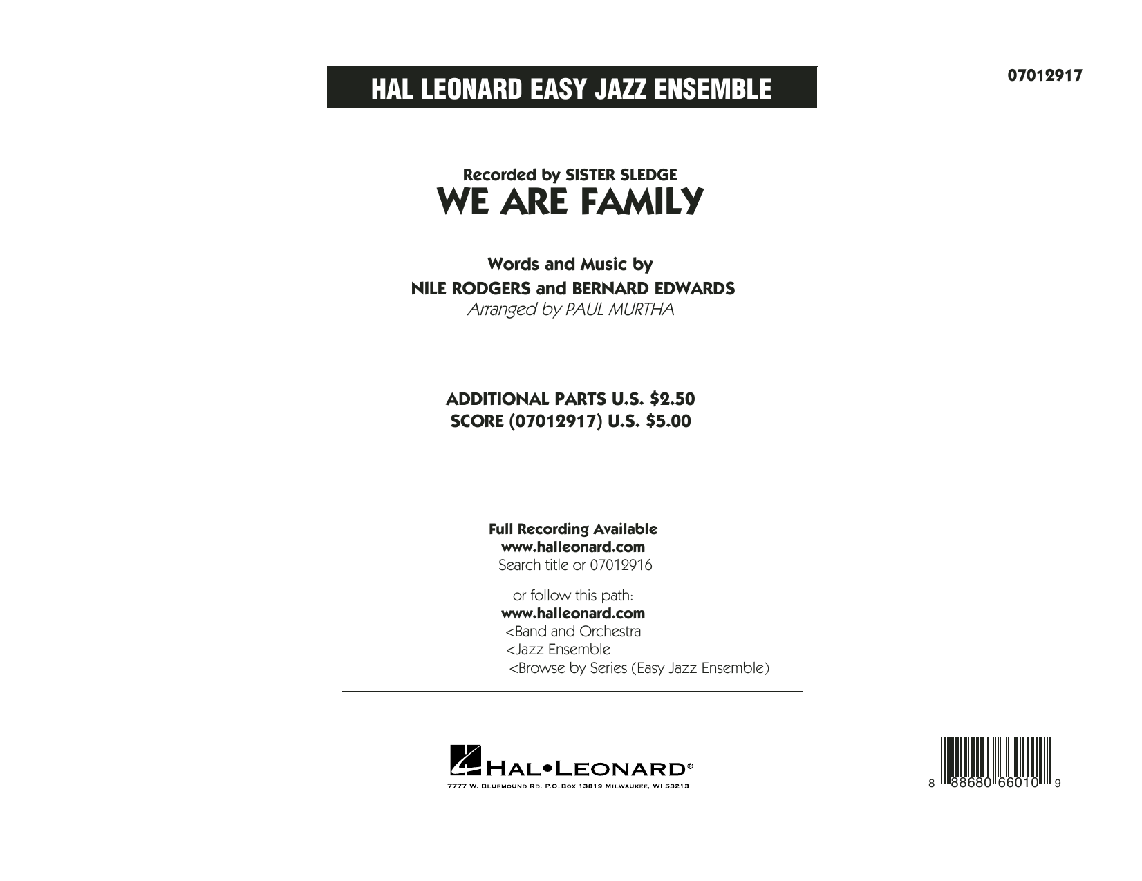 We Are Family - Conductor Score (Full Score) Sheet Music