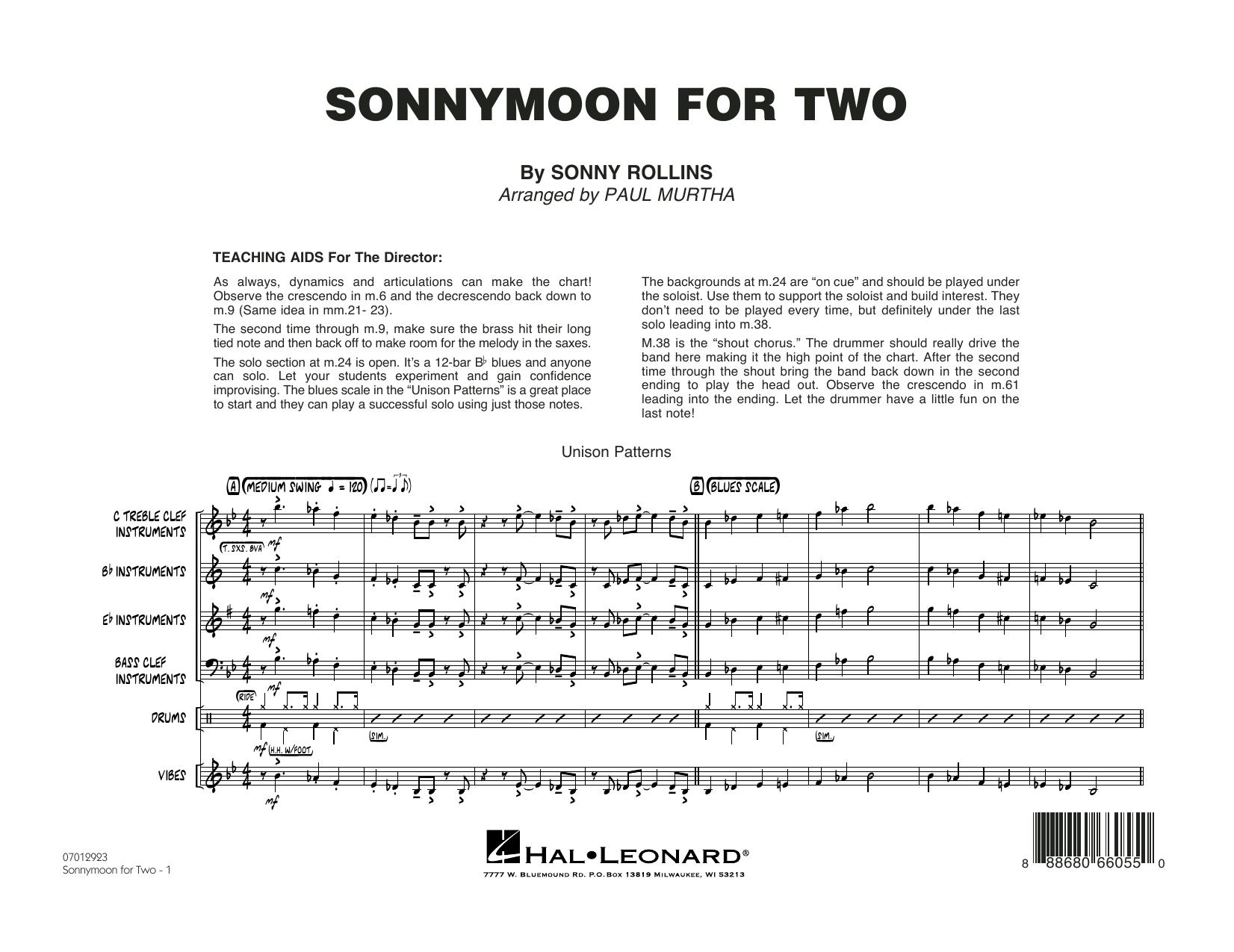 Sonnymoon for Two - Conductor Score (Full Score) (Jazz Ensemble)