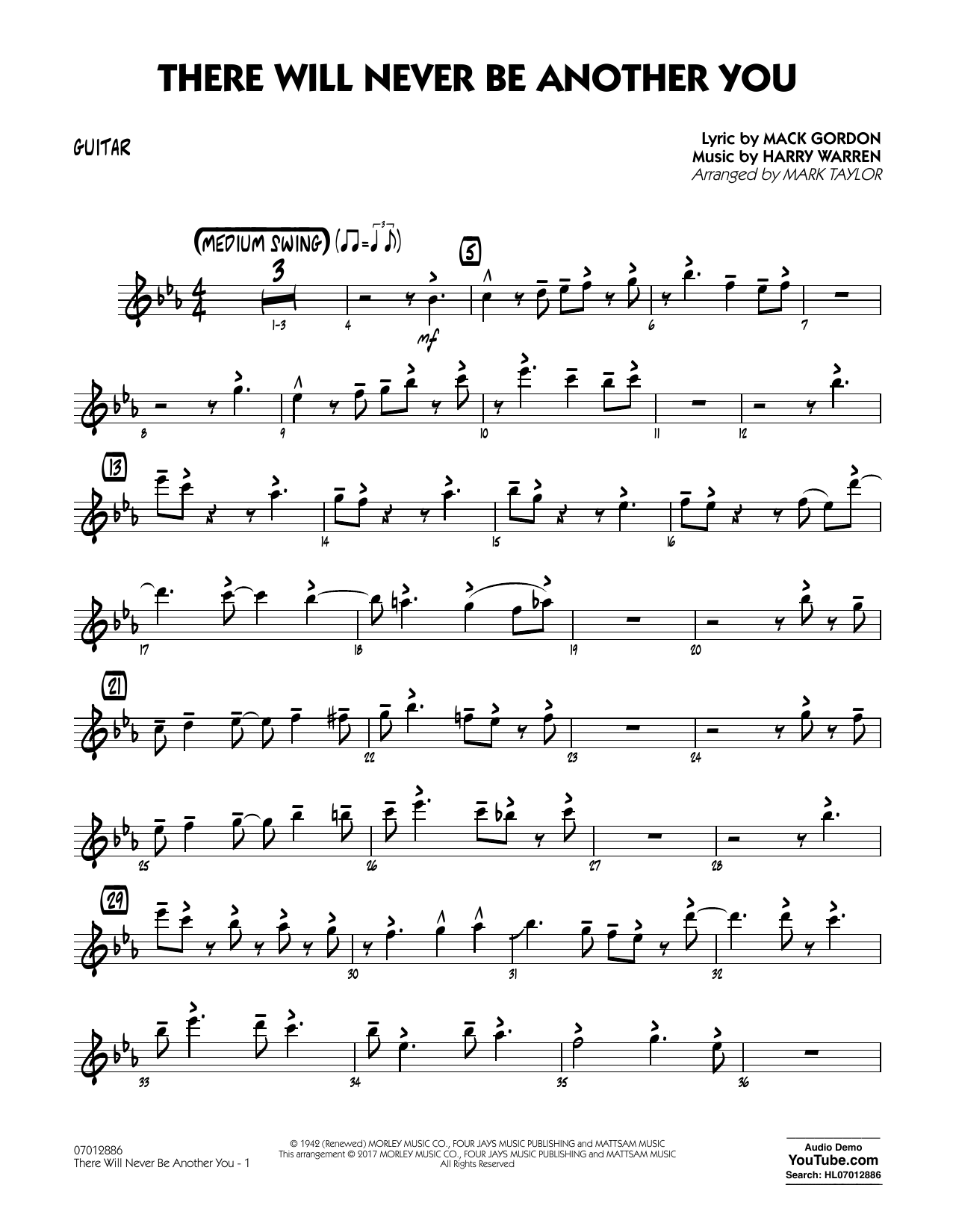 There Will Never Be Another You - Guitar Sheet Music
