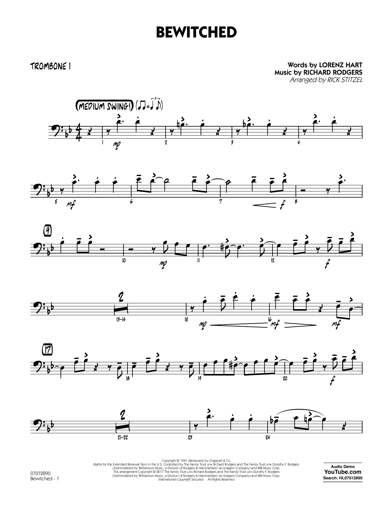 Bewitched - Trombone 1 Sheet Music