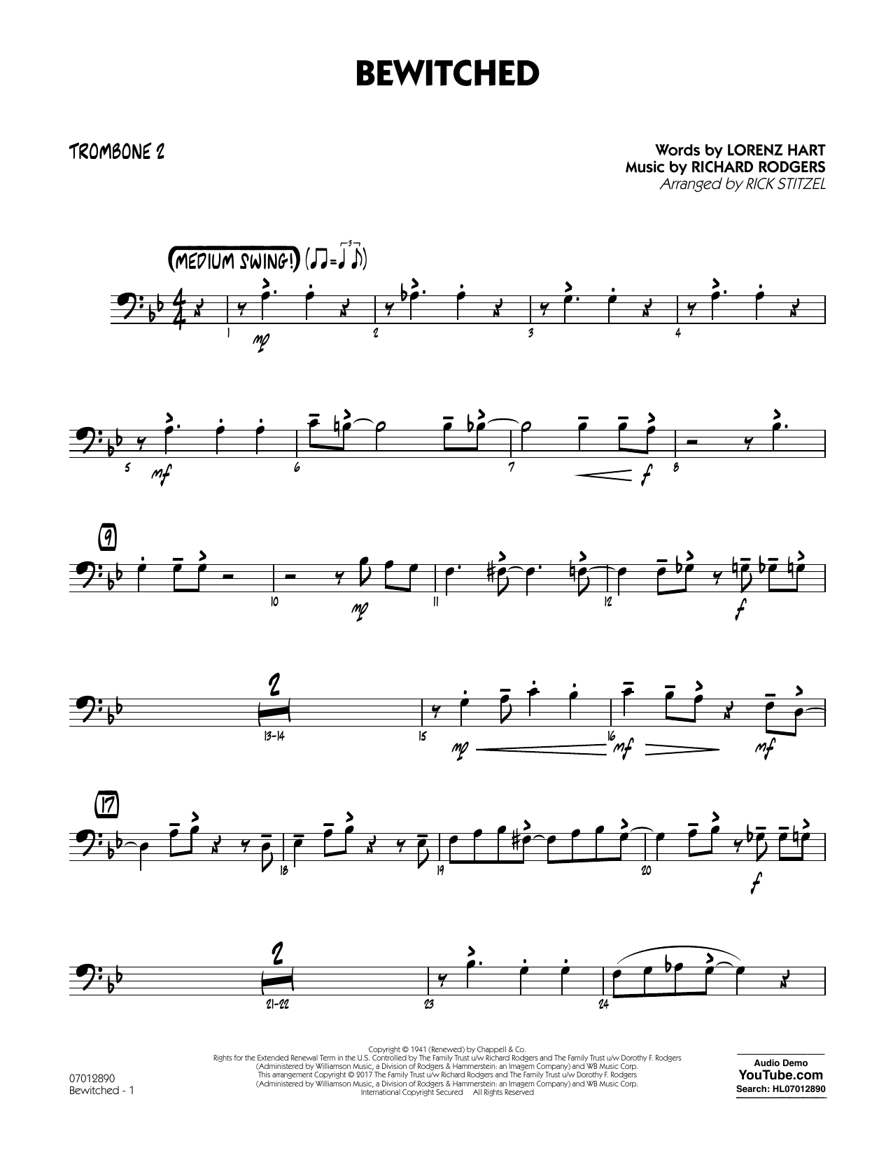 Bewitched - Trombone 2 Sheet Music