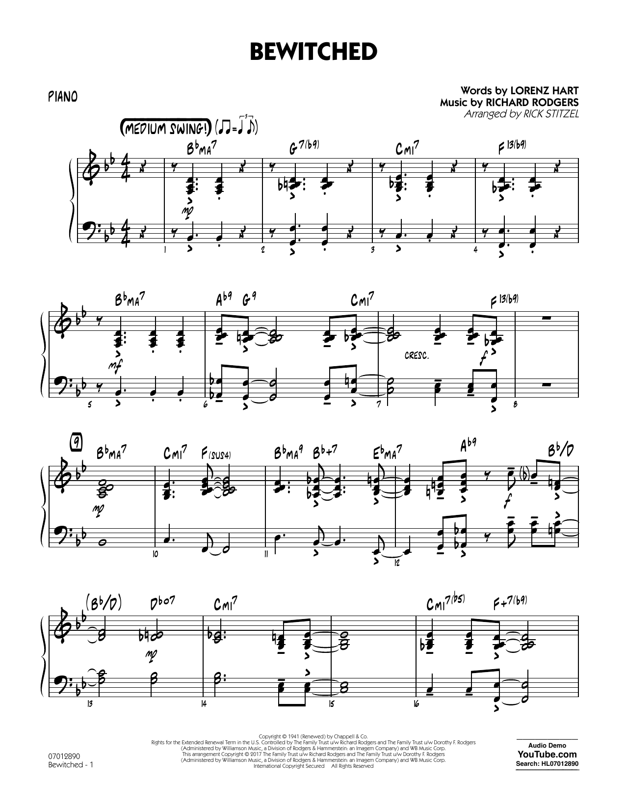 Bewitched - Piano Sheet Music