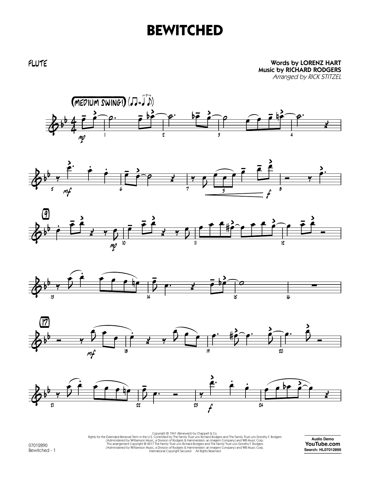 Bewitched - Flute Partition Digitale