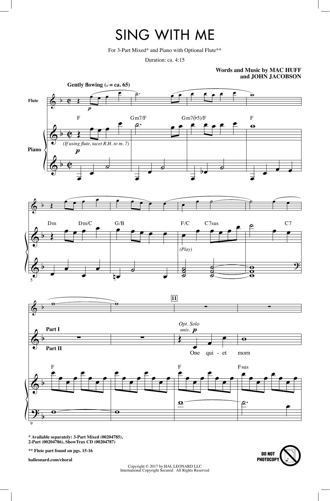 Sing With Me Sheet Music