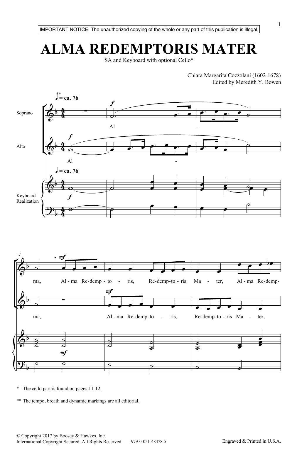 Alma Redemptoris Mater Sheet Music