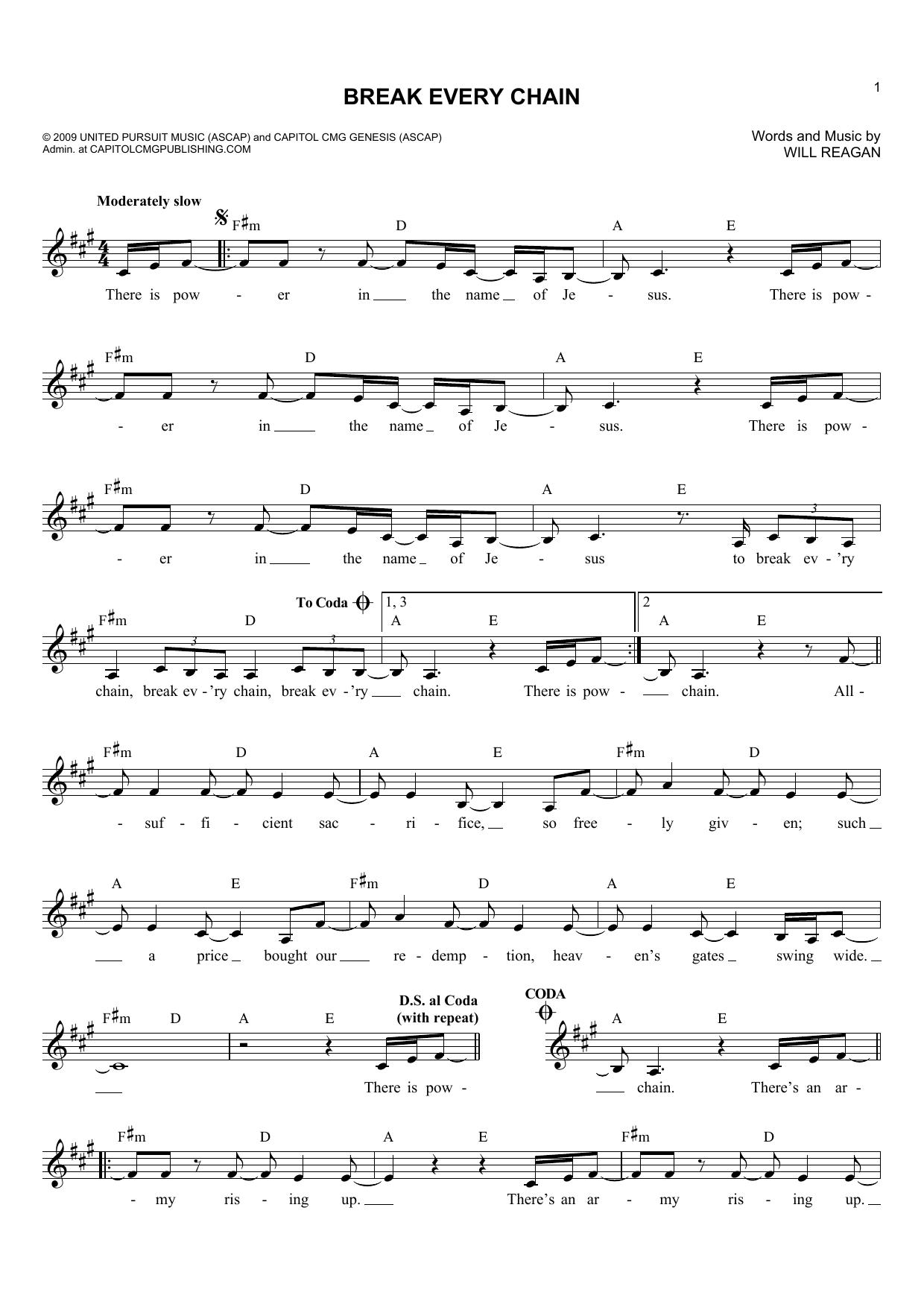 Break Every Chain Piano Sheet Music Mersnoforum