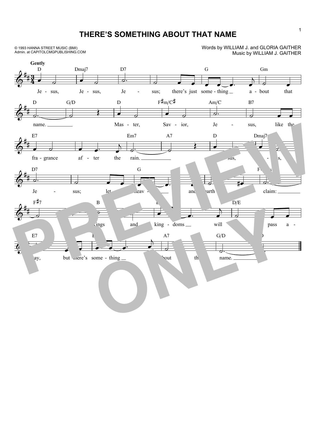 There's Something About That Name (Lead Sheet / Fake Book)