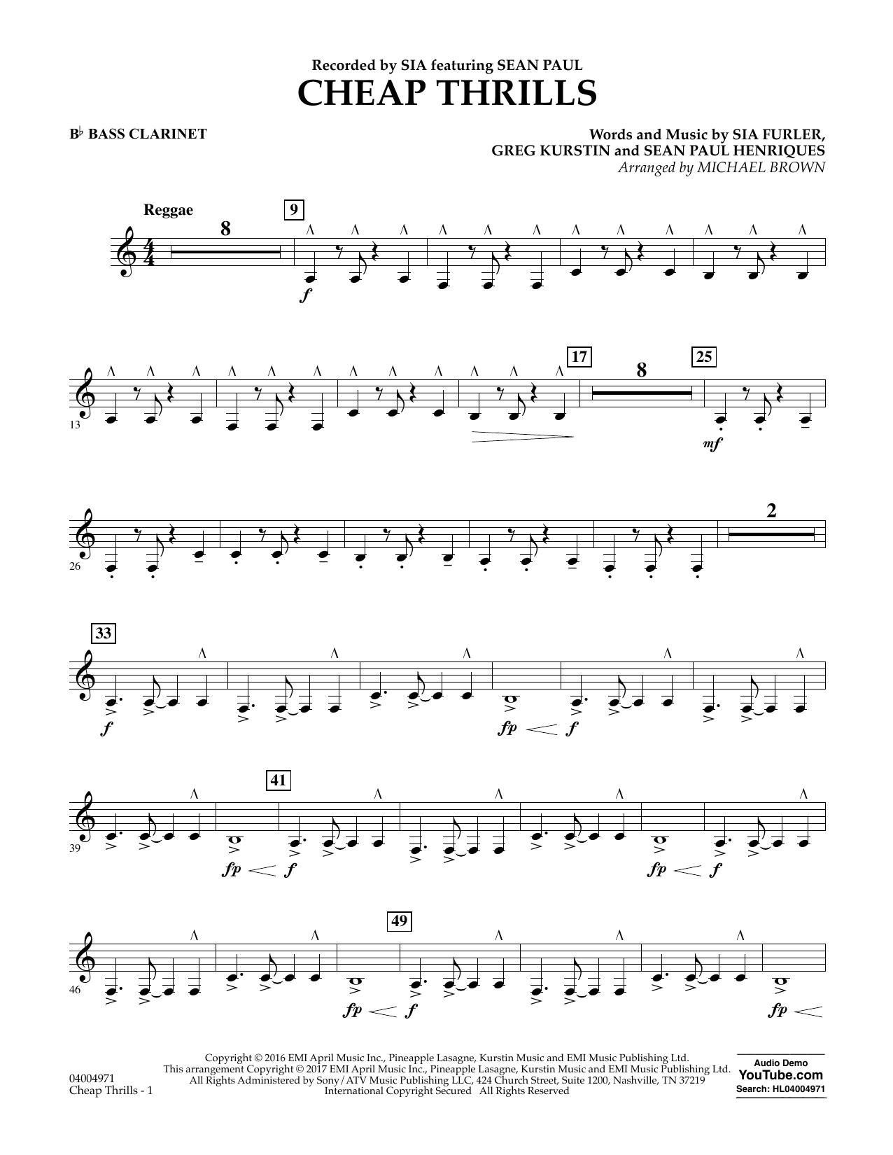 Cheap Thrills - Bb Bass Clarinet Sheet Music