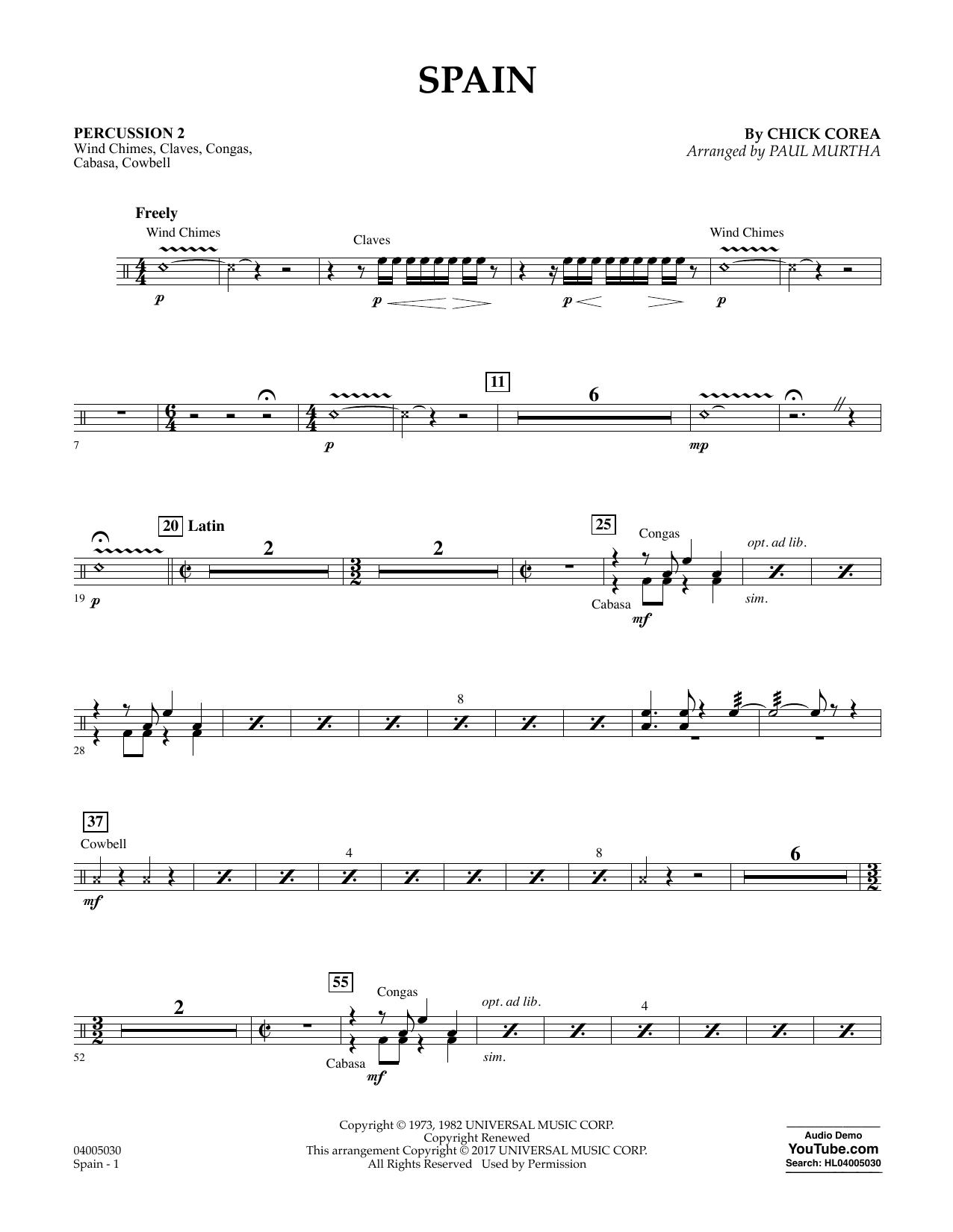 Spain - Percussion 2 Sheet Music