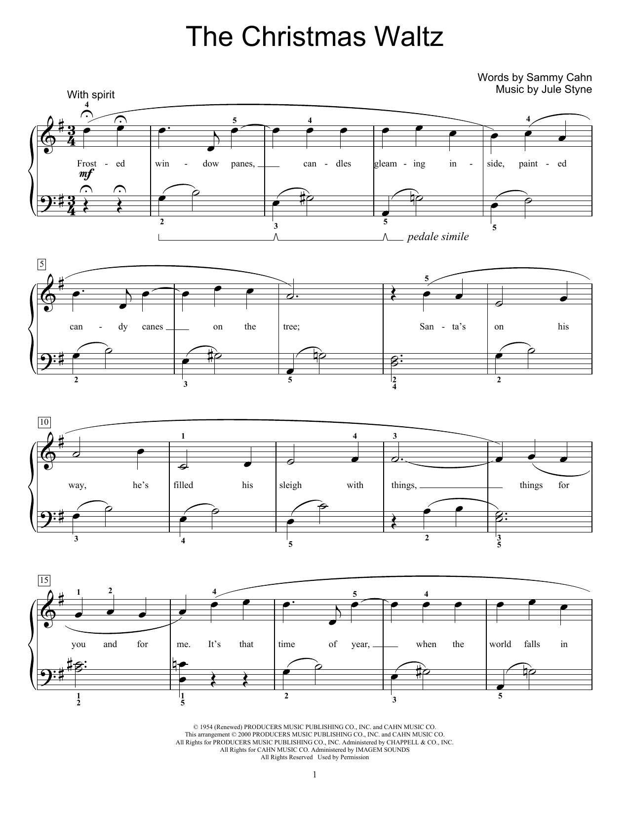 The Christmas Waltz (Educational Piano)