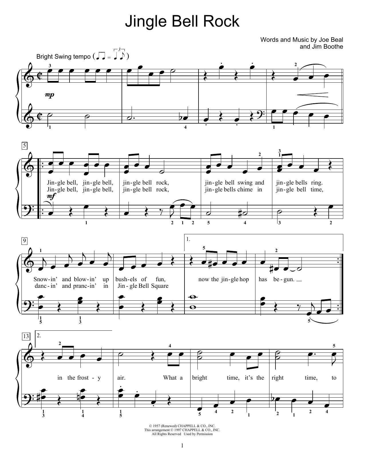 jingle bell rock music sheet pdf