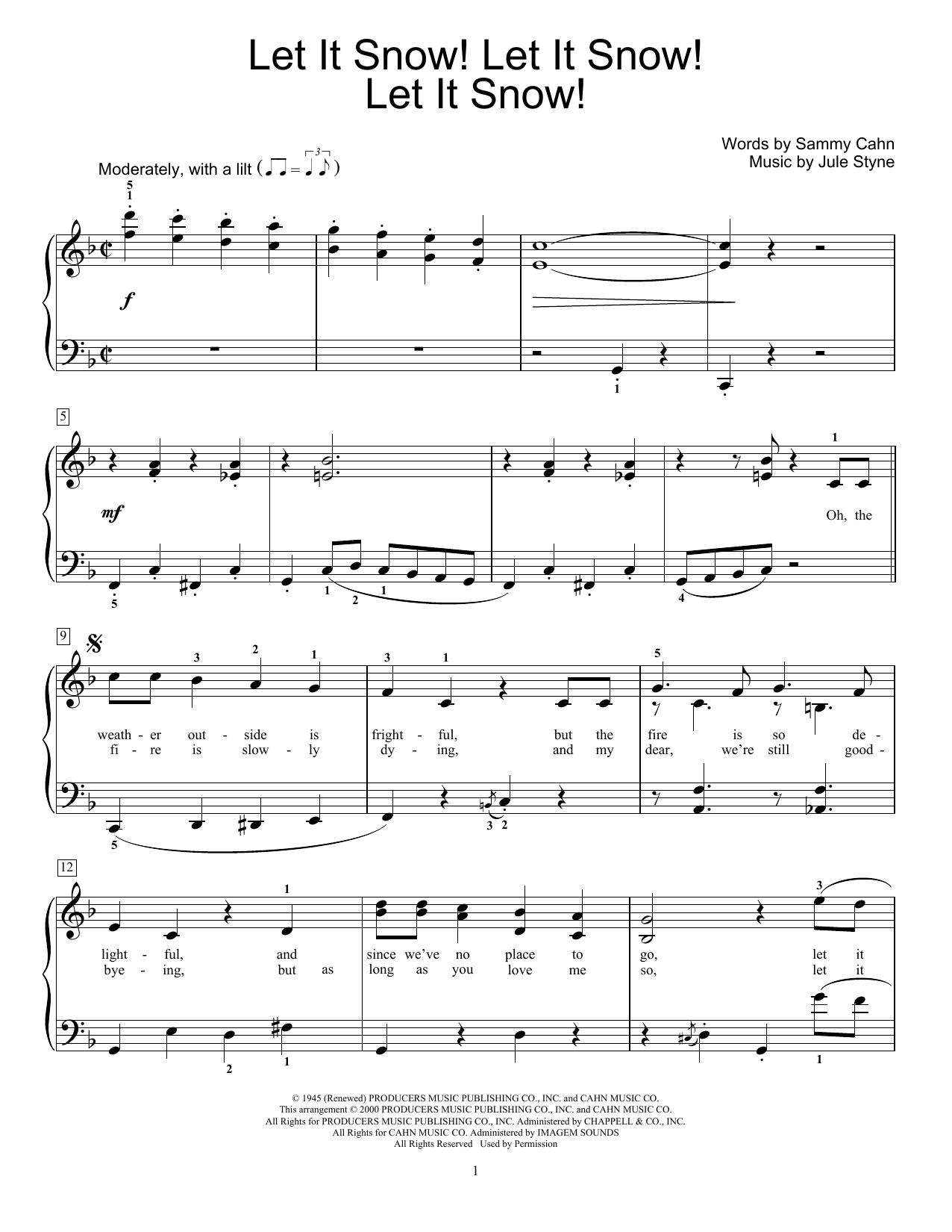Let It Snow! Let It Snow! Let It Snow! (Educational Piano)
