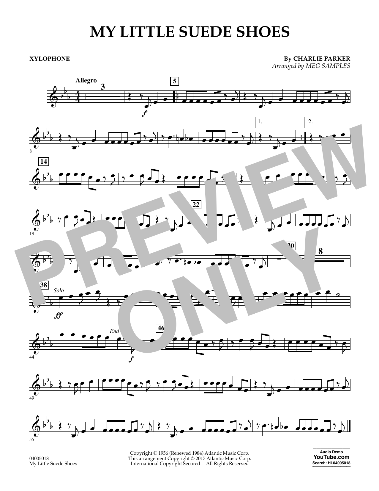 My Little Suede Shoes - Xylophone Sheet Music