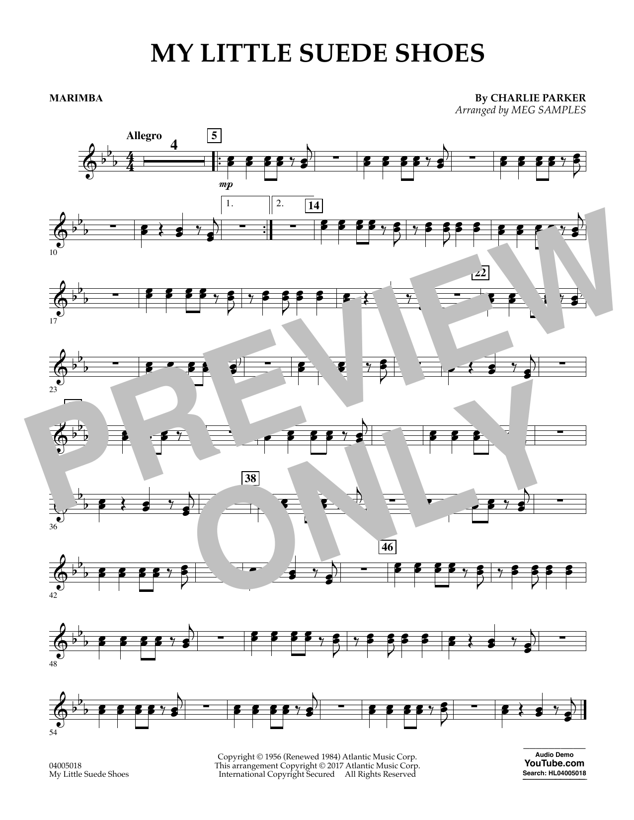 My Little Suede Shoes - Marimba Sheet Music