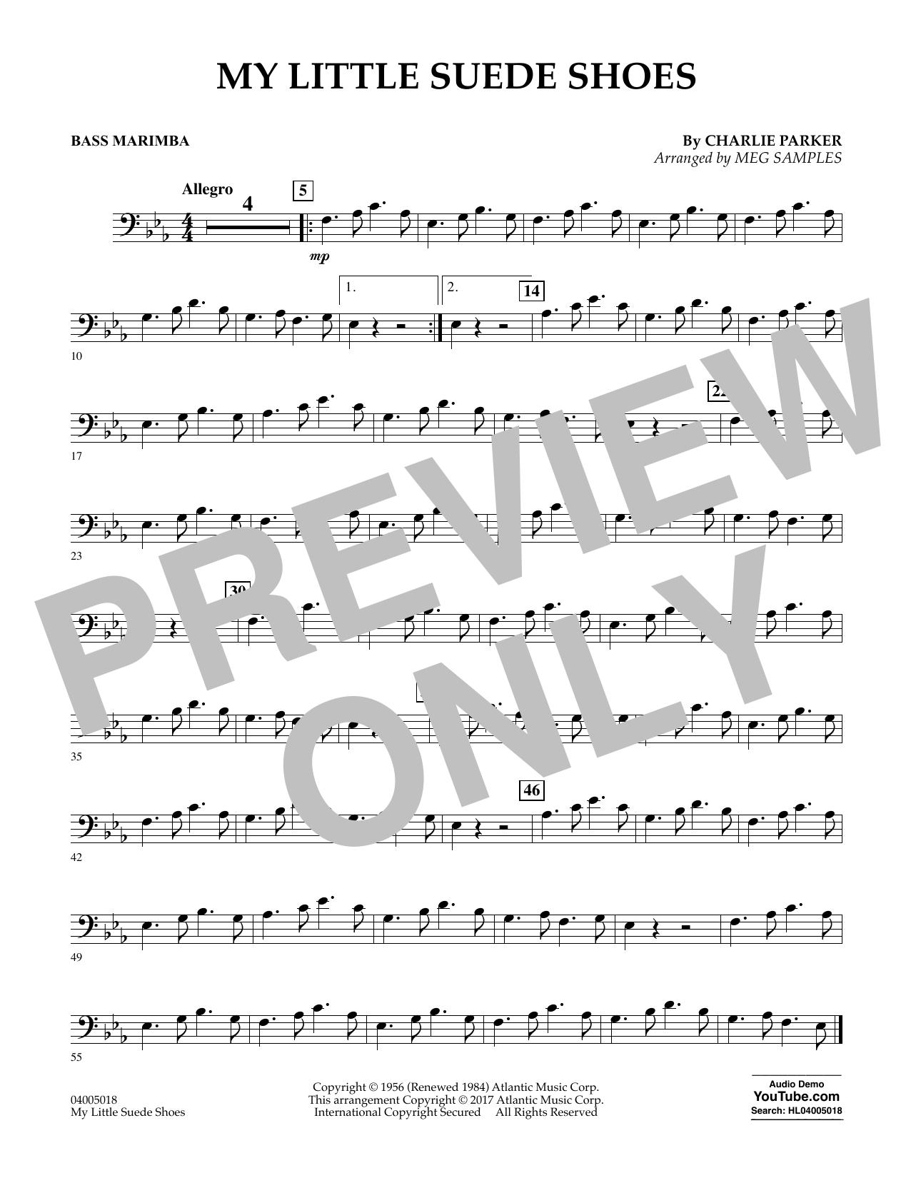 My Little Suede Shoes - Bass Marimba Sheet Music
