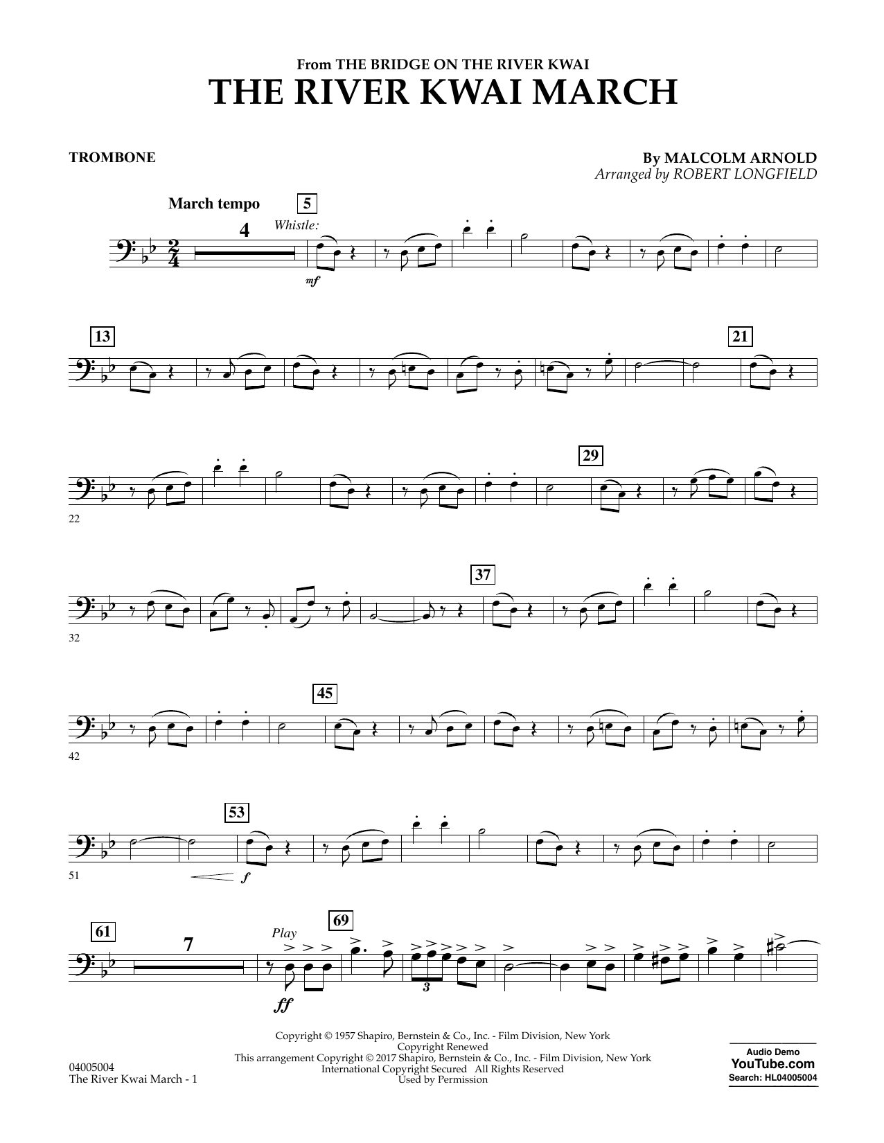 The River Kwai March - Trombone (Concert Band)