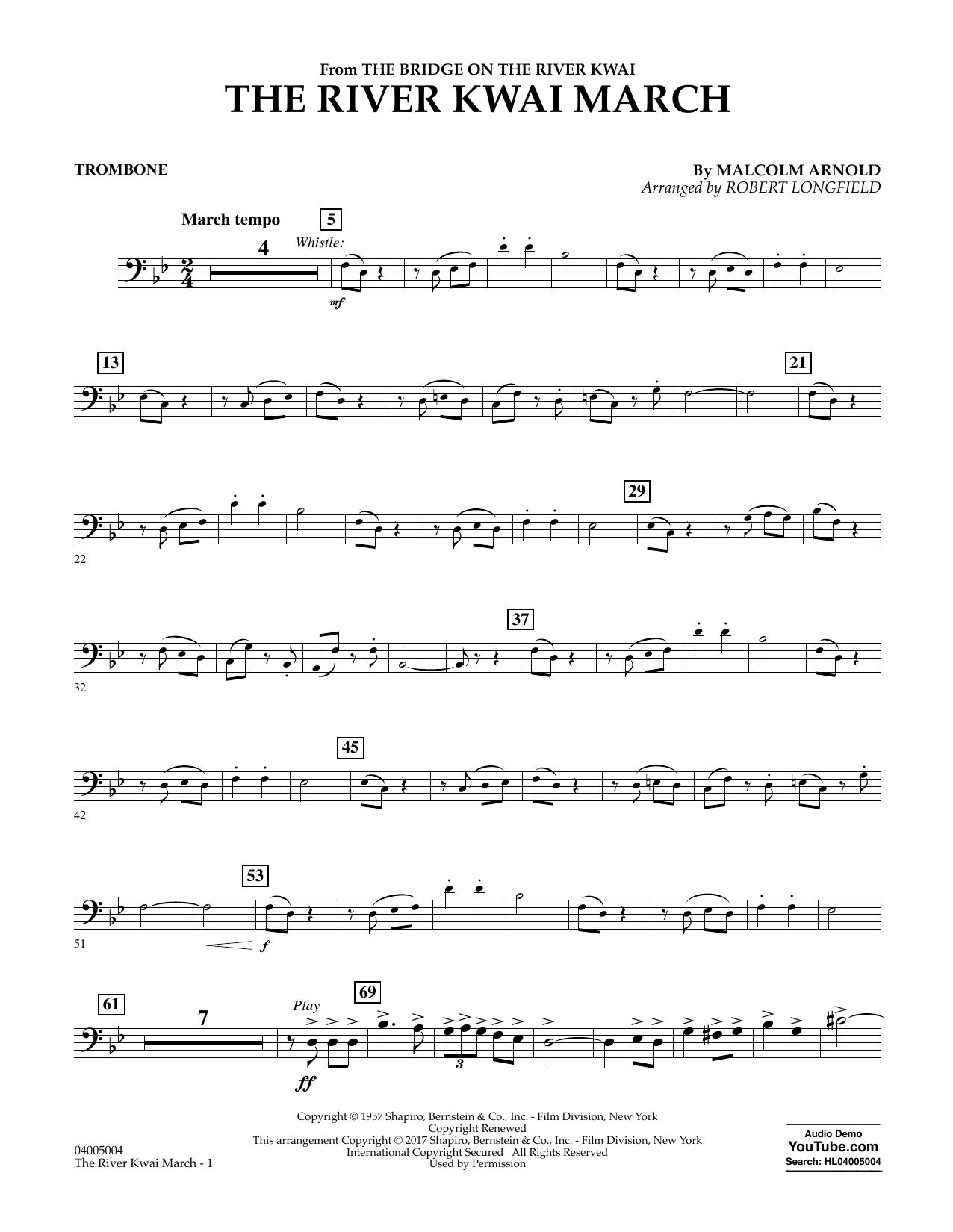 The River Kwai March - Trombone Sheet Music
