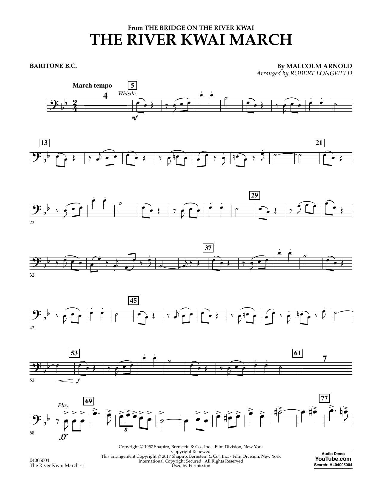 The River Kwai March - Baritone B.C. Sheet Music