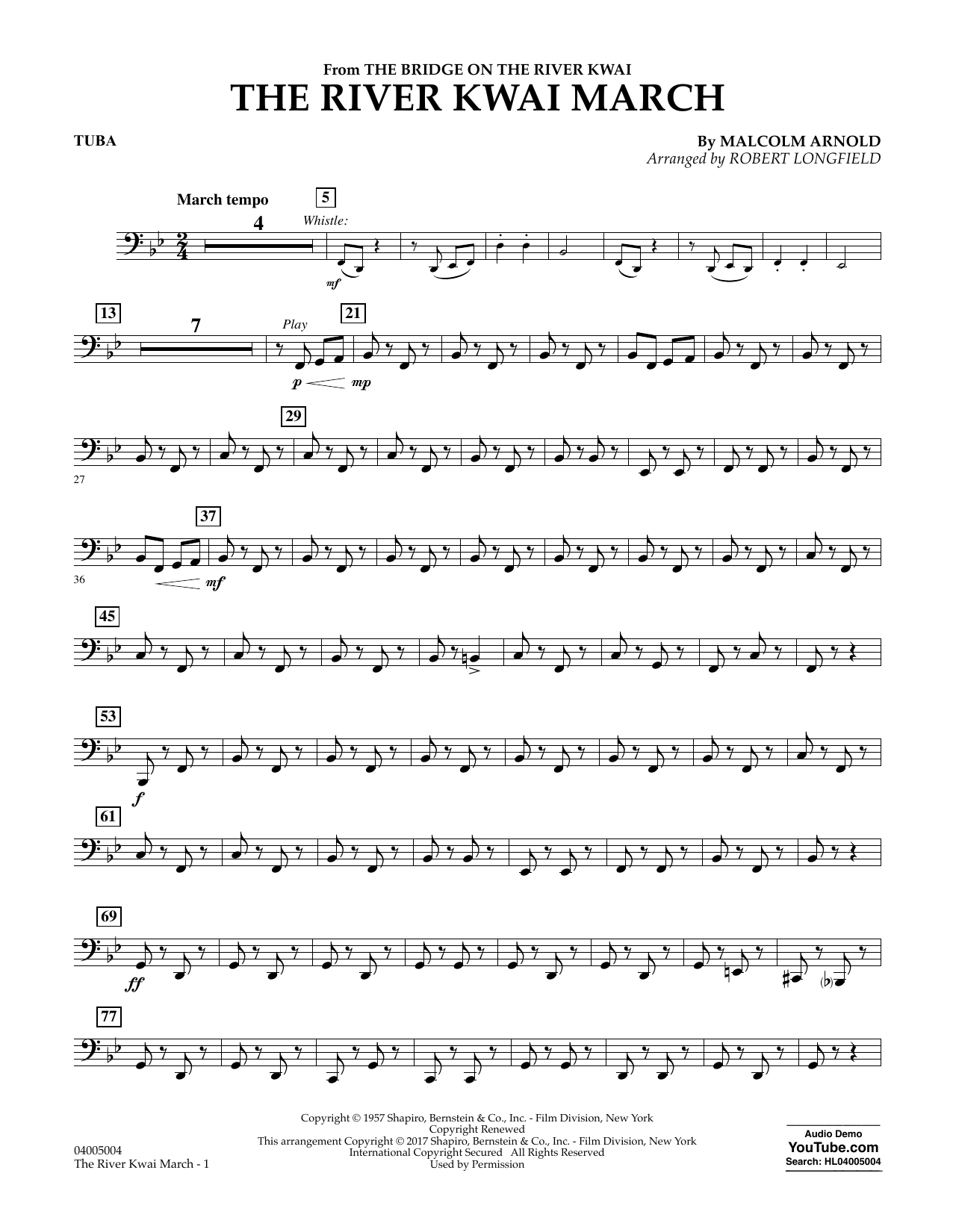 The River Kwai March - Tuba Sheet Music