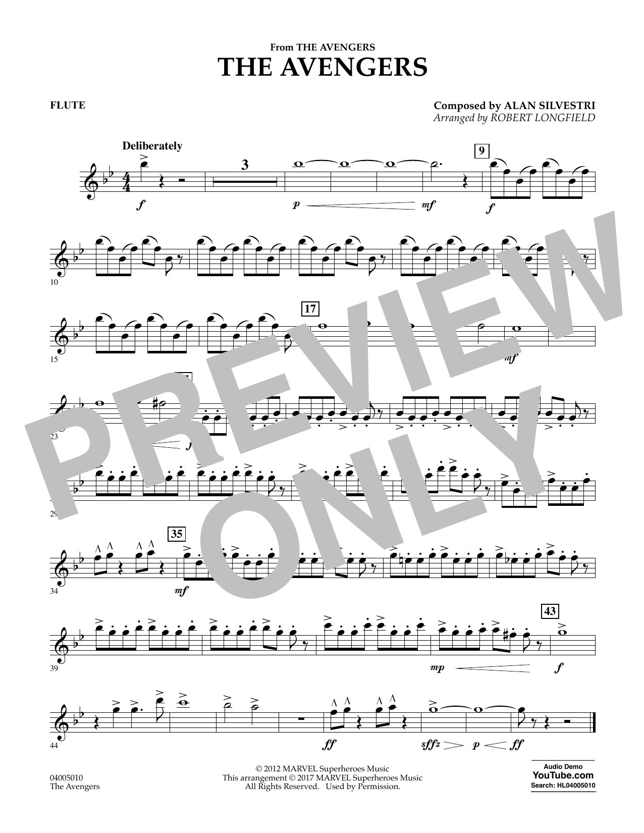 The Avengers - Flute Sheet Music
