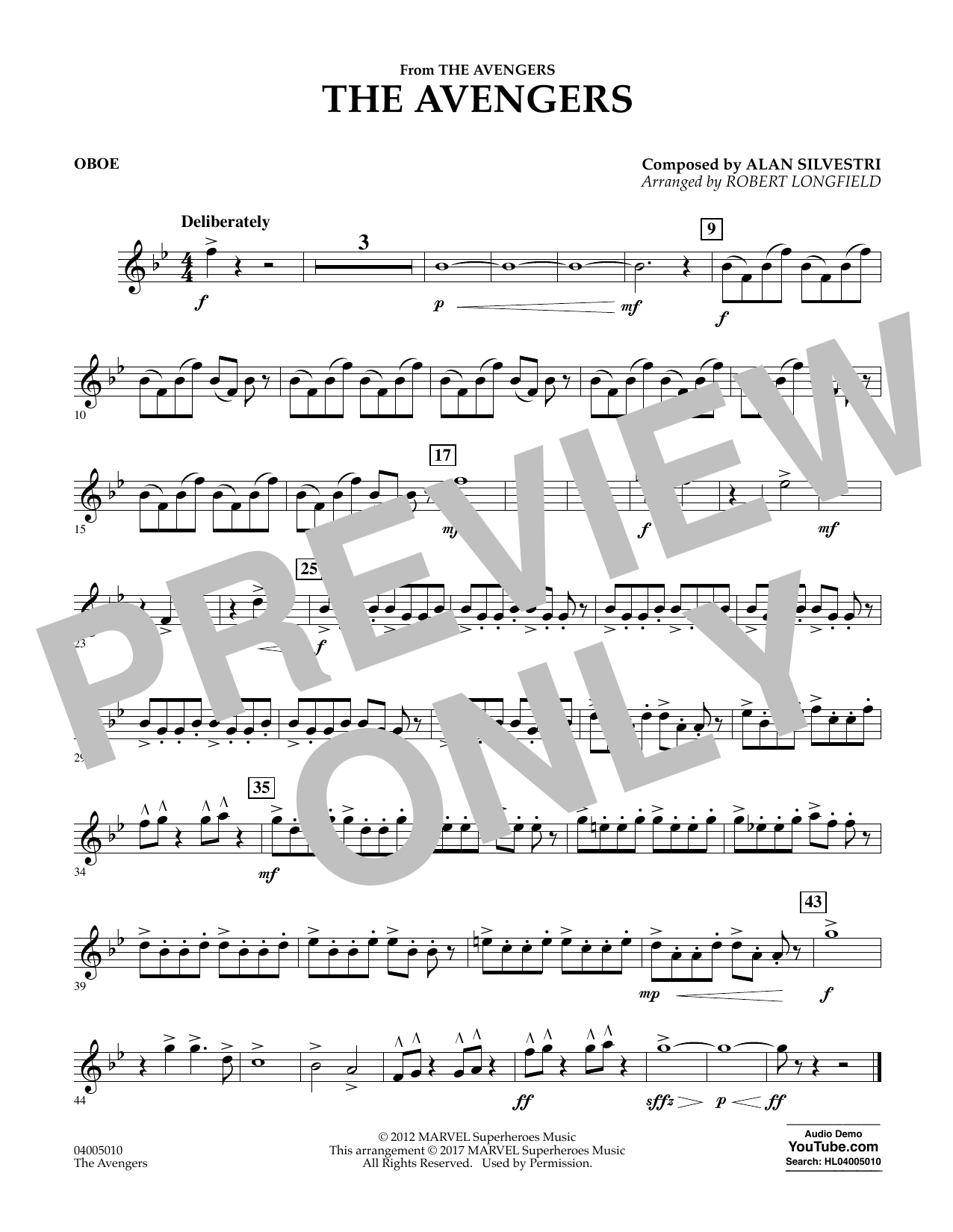 The Avengers - Oboe Sheet Music