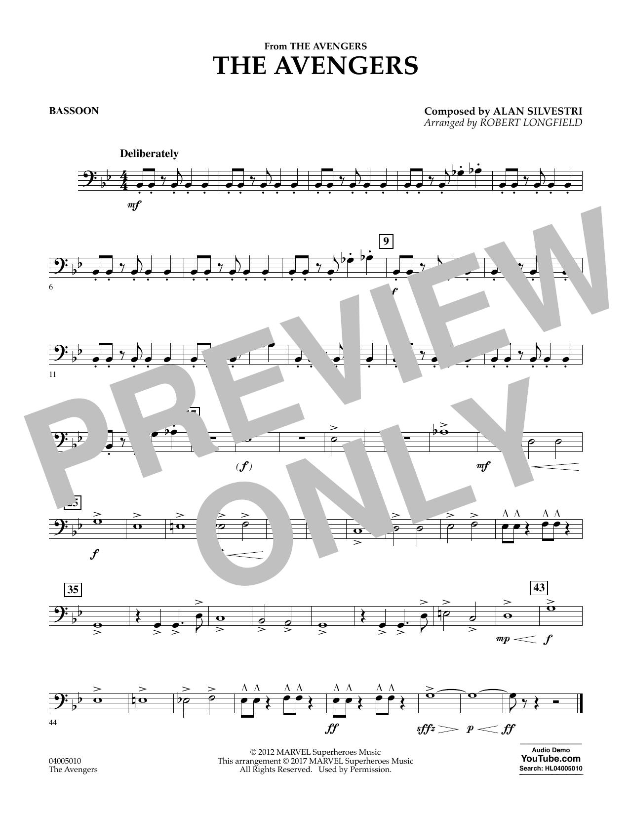 The Avengers - Bassoon Sheet Music