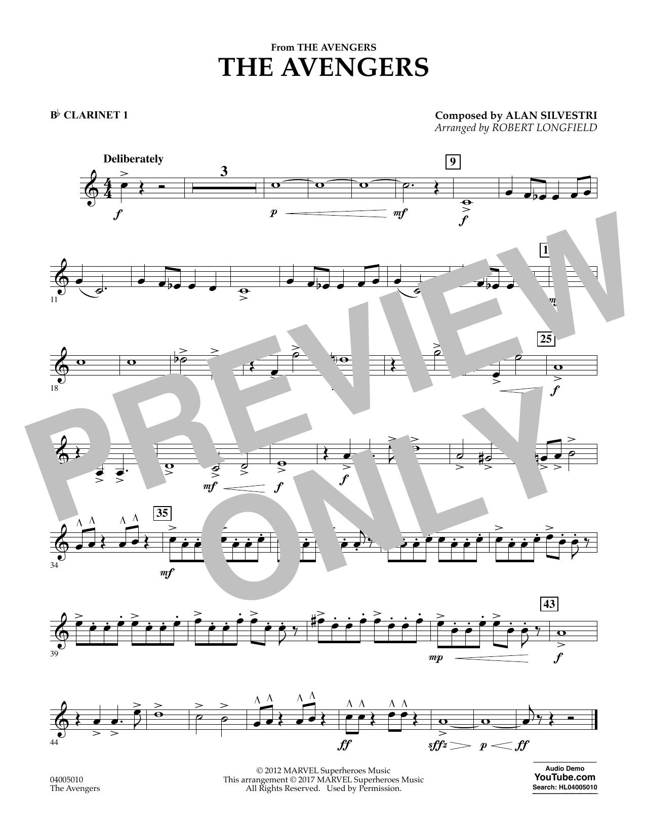 The Avengers - Bb Clarinet 1 Sheet Music