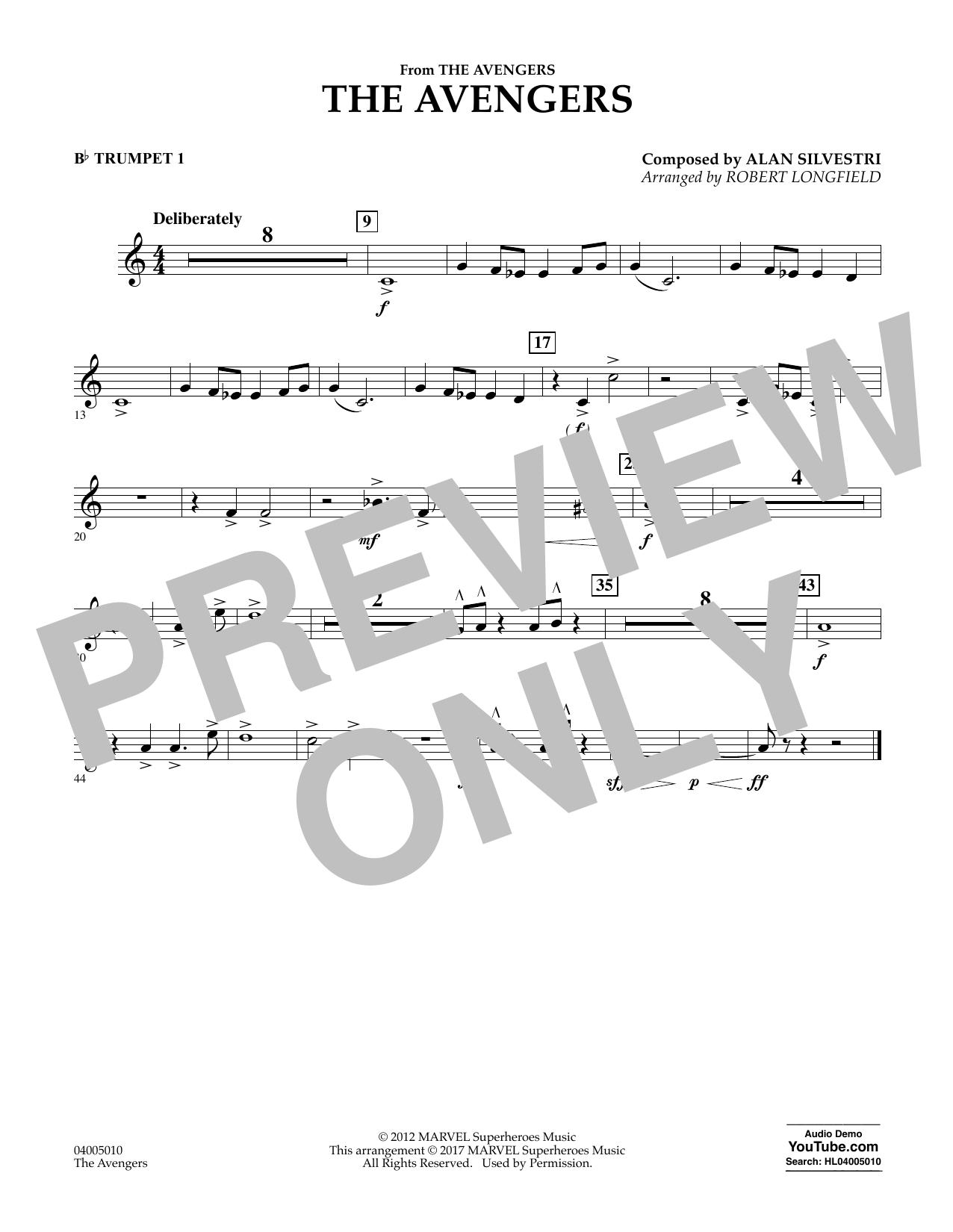 The Avengers - Bb Trumpet 1 Sheet Music