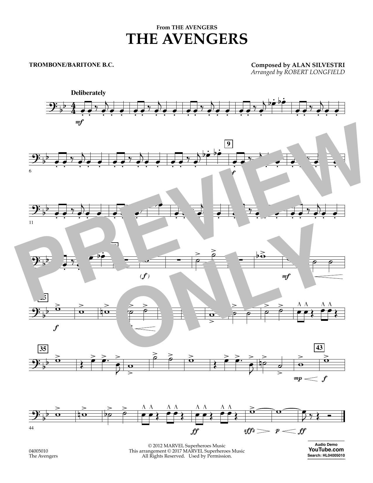 The Avengers - Trombone/Baritone B.C. Sheet Music