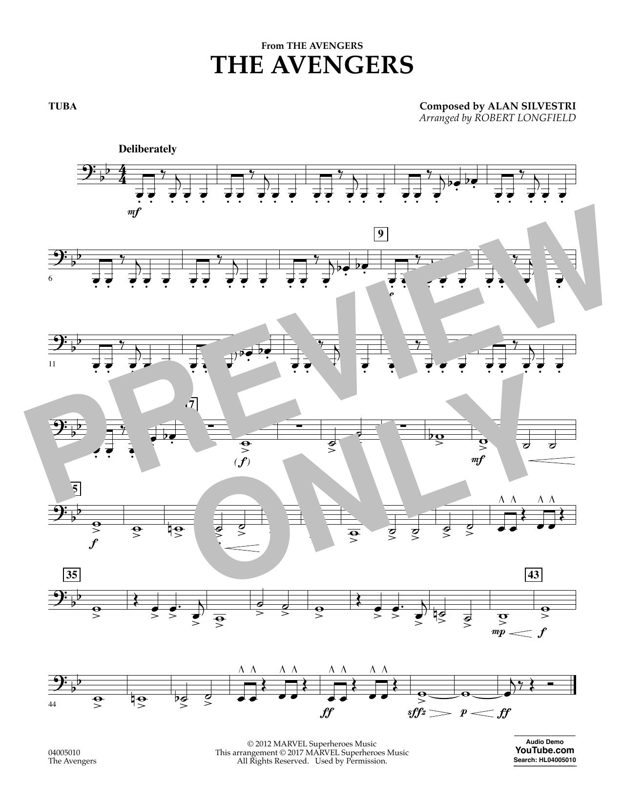 The Avengers - Tuba Sheet Music