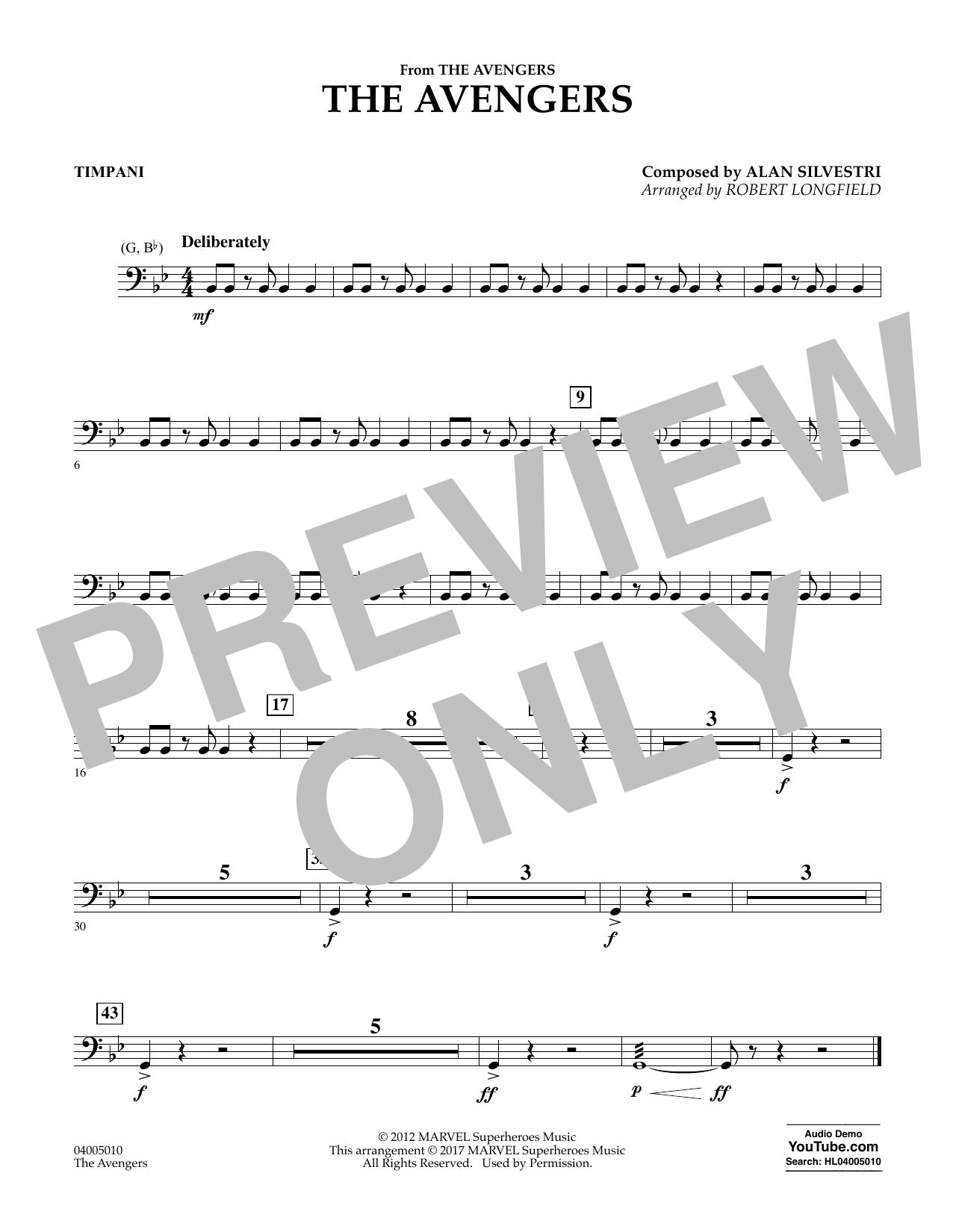 The Avengers - Timpani Sheet Music