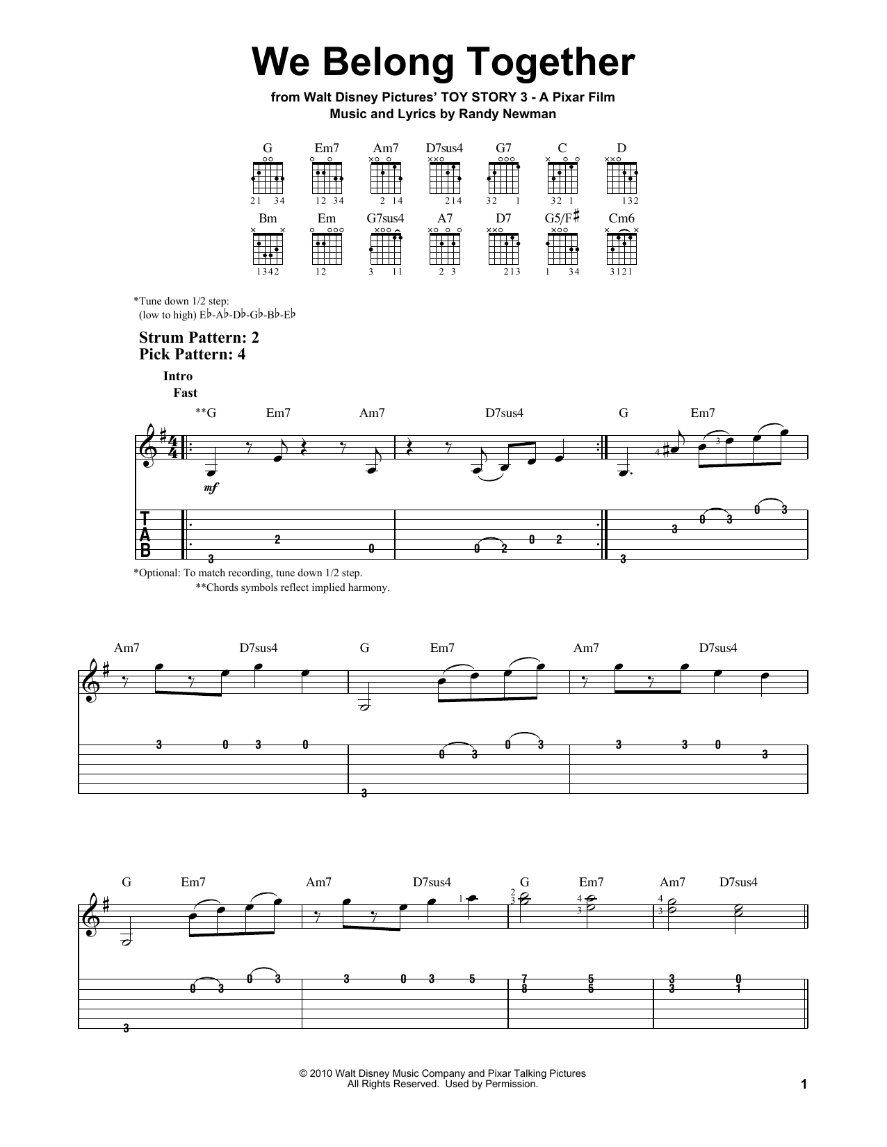 We belong together by randy newman easy guitar tab guitar the most accurate tab hexwebz Image collections