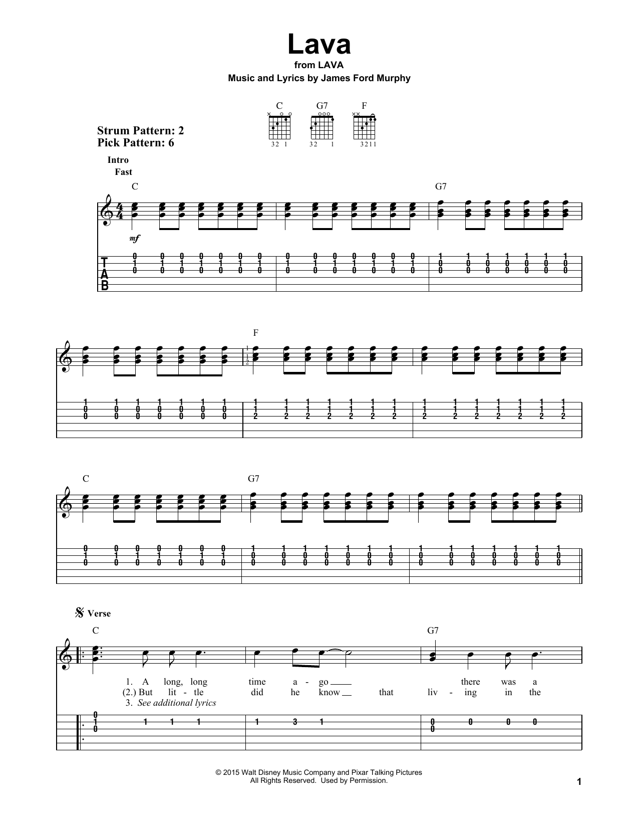 Lava By James Ford Murphy Easy Guitar Tab Guitar Instructor