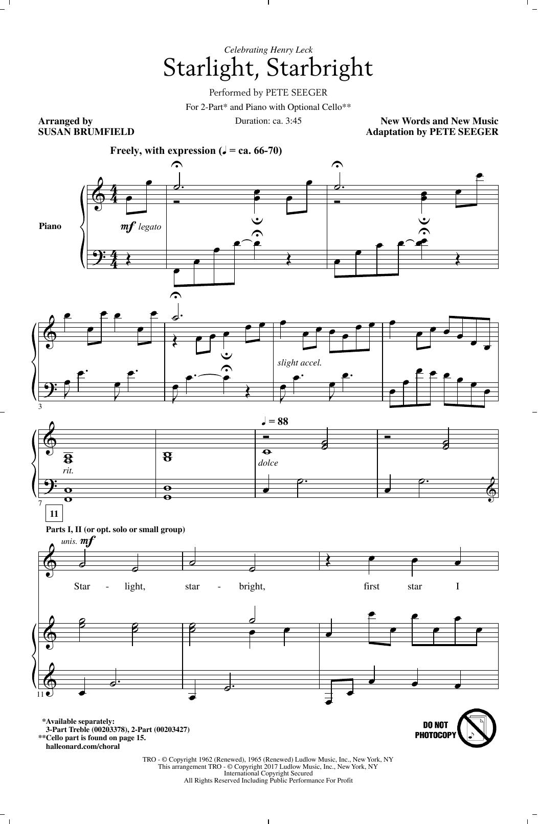 Starlight, Starbright (arr. Susan Brumfield) (2-Part Choir)