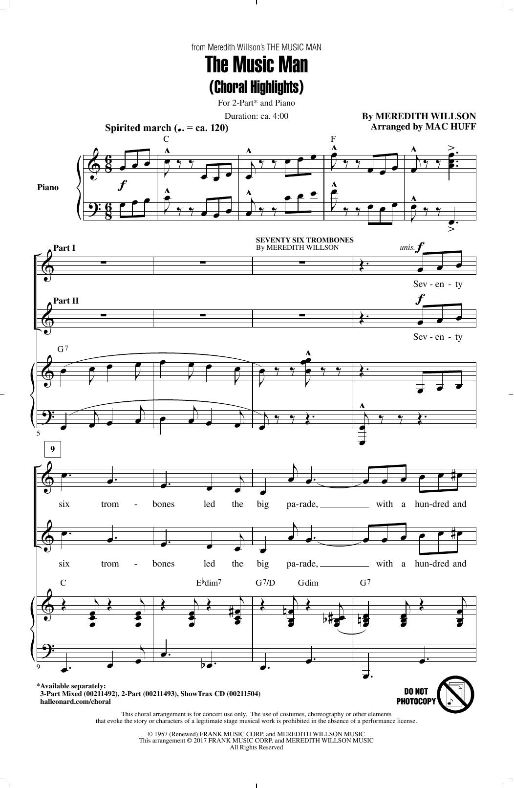 The Music Man (Choral Highlights) Sheet Music