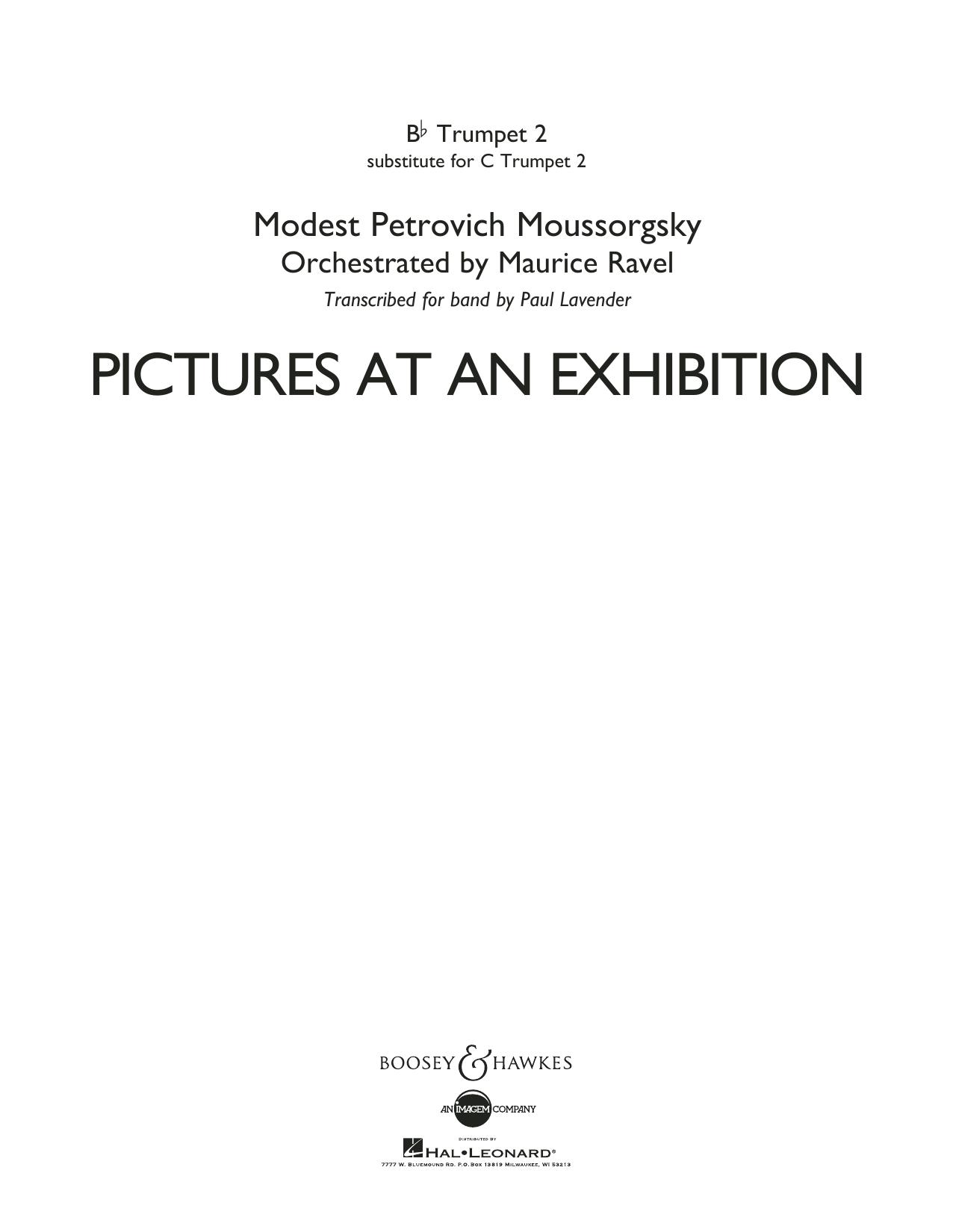 Pictures at an Exhibition - Bb Trumpet Parts - Digital Only - Bb Trumpet 2 (sub. C Tpt. 2) Partituras Digitales